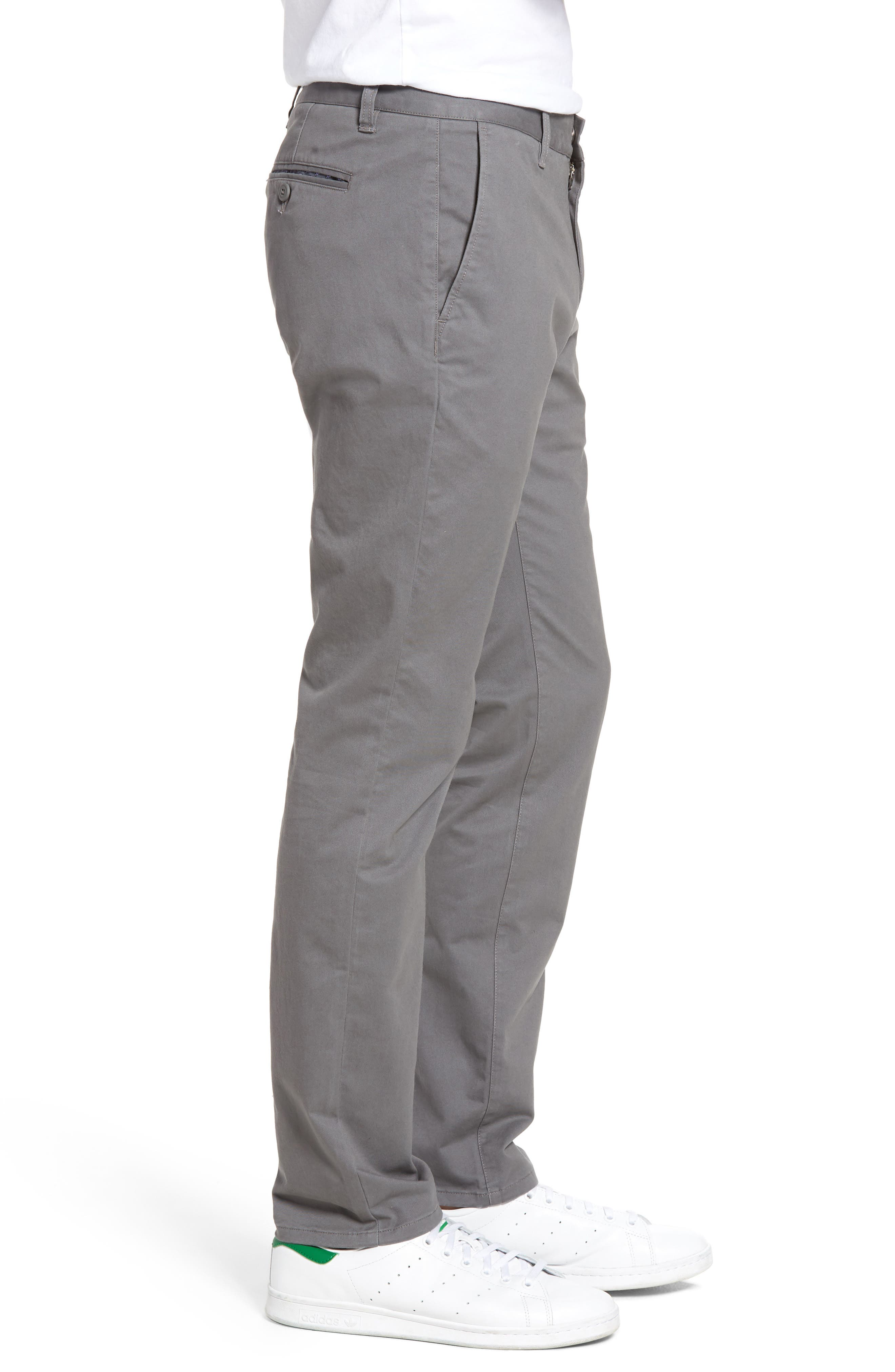 Tailored Fit Washed Stretch Cotton Chinos,                             Alternate thumbnail 95, color,