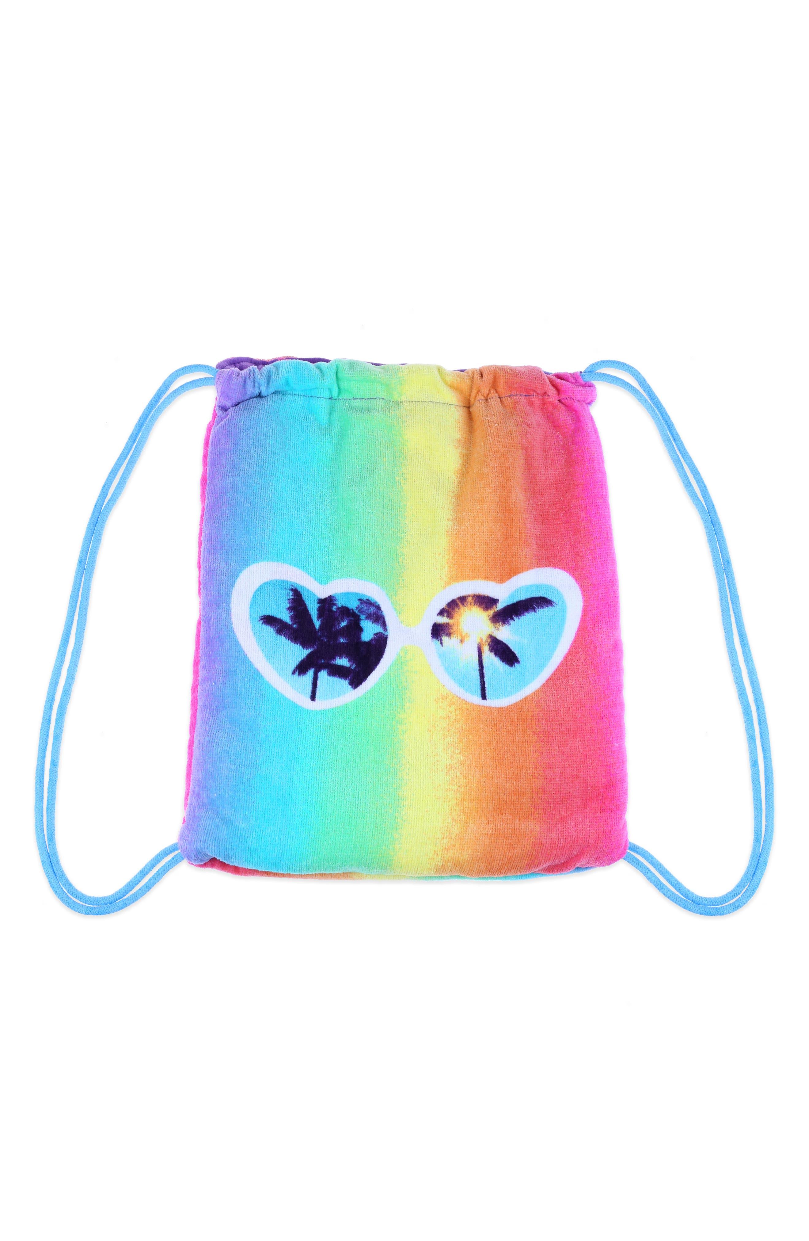Heart Sunnies Towel Backpack,                             Alternate thumbnail 4, color,                             475