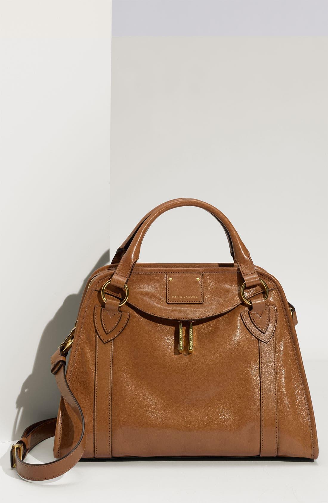 'Classic Wellington' Leather Satchel,                             Main thumbnail 8, color,