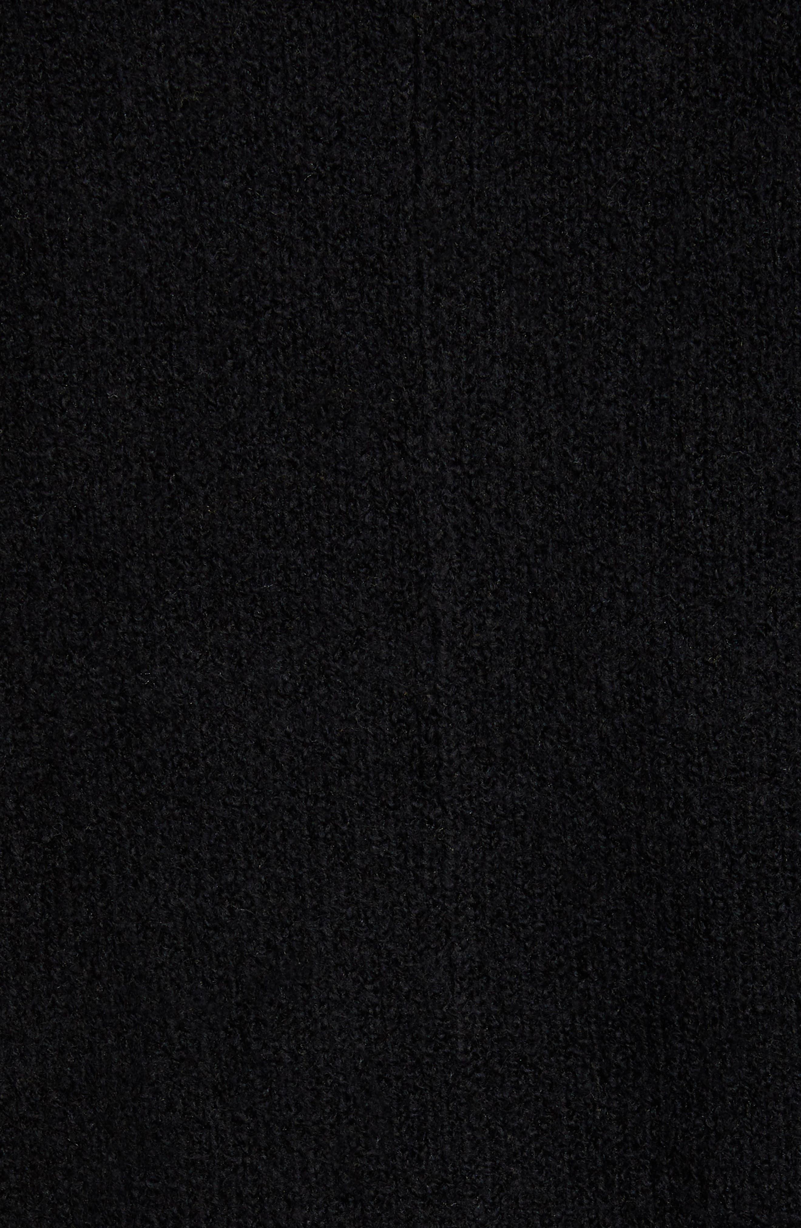 Drape Cardigan,                             Alternate thumbnail 6, color,                             BLACK