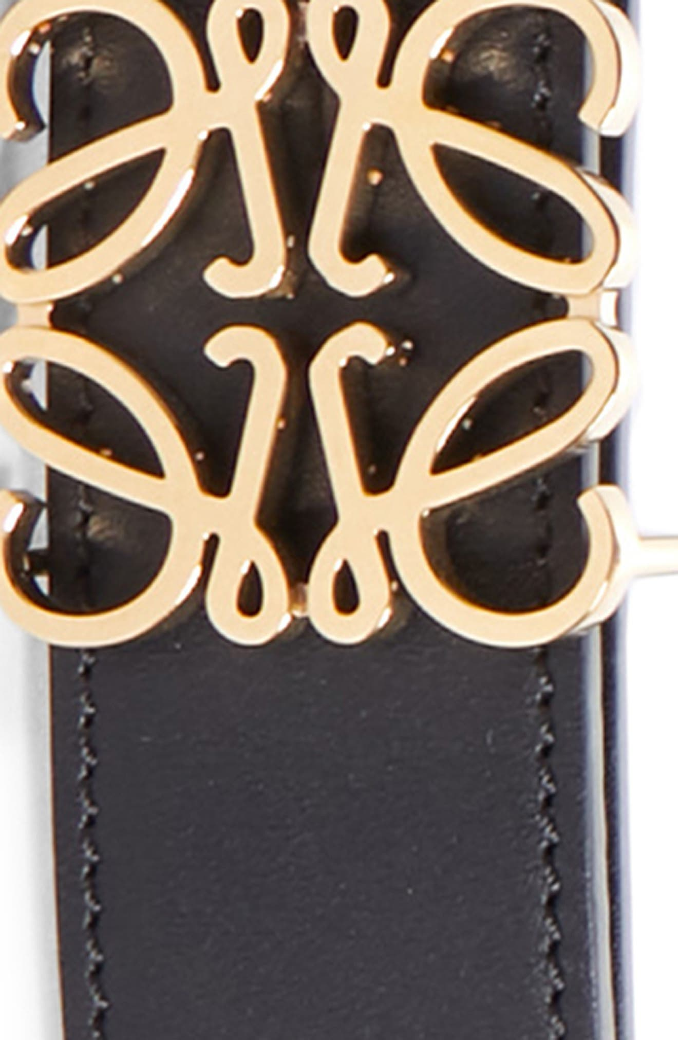 Anagram Logo Calfskin Leather Belt,                             Alternate thumbnail 2, color,                             001