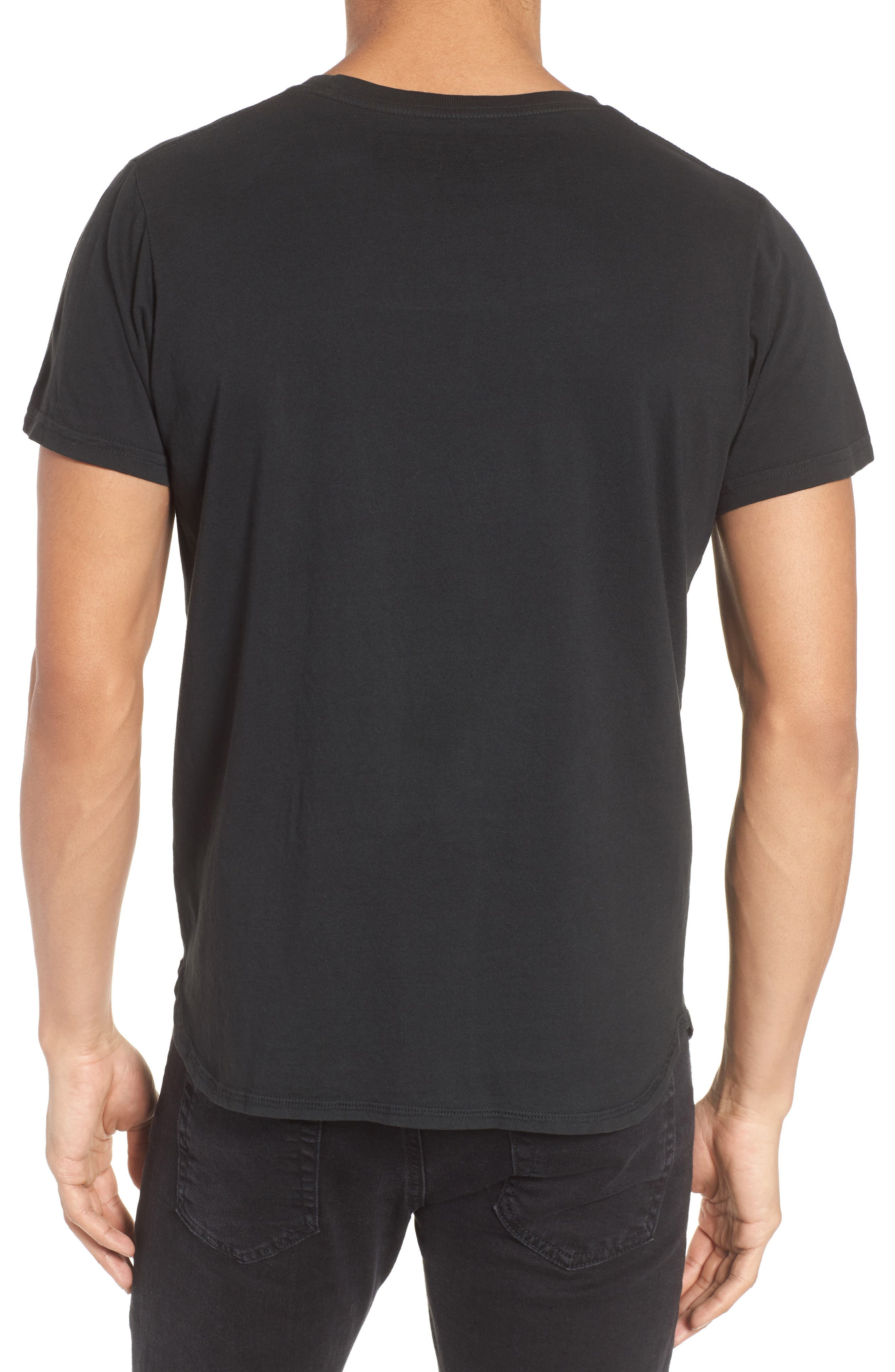 Wide Awake Graphic T-Shirt,                             Alternate thumbnail 2, color,                             DUSTY BLACK