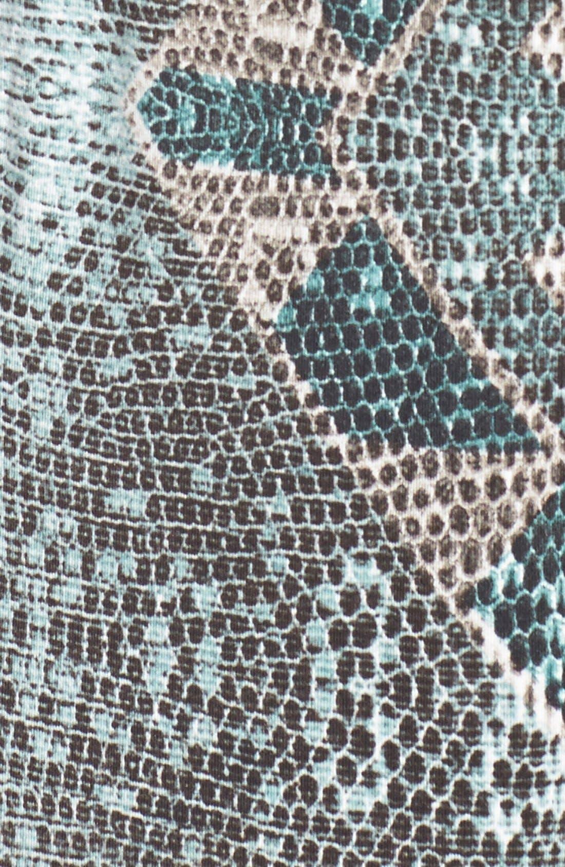 'Jewell' Pleat Neck Print Top,                             Alternate thumbnail 5, color,                             020
