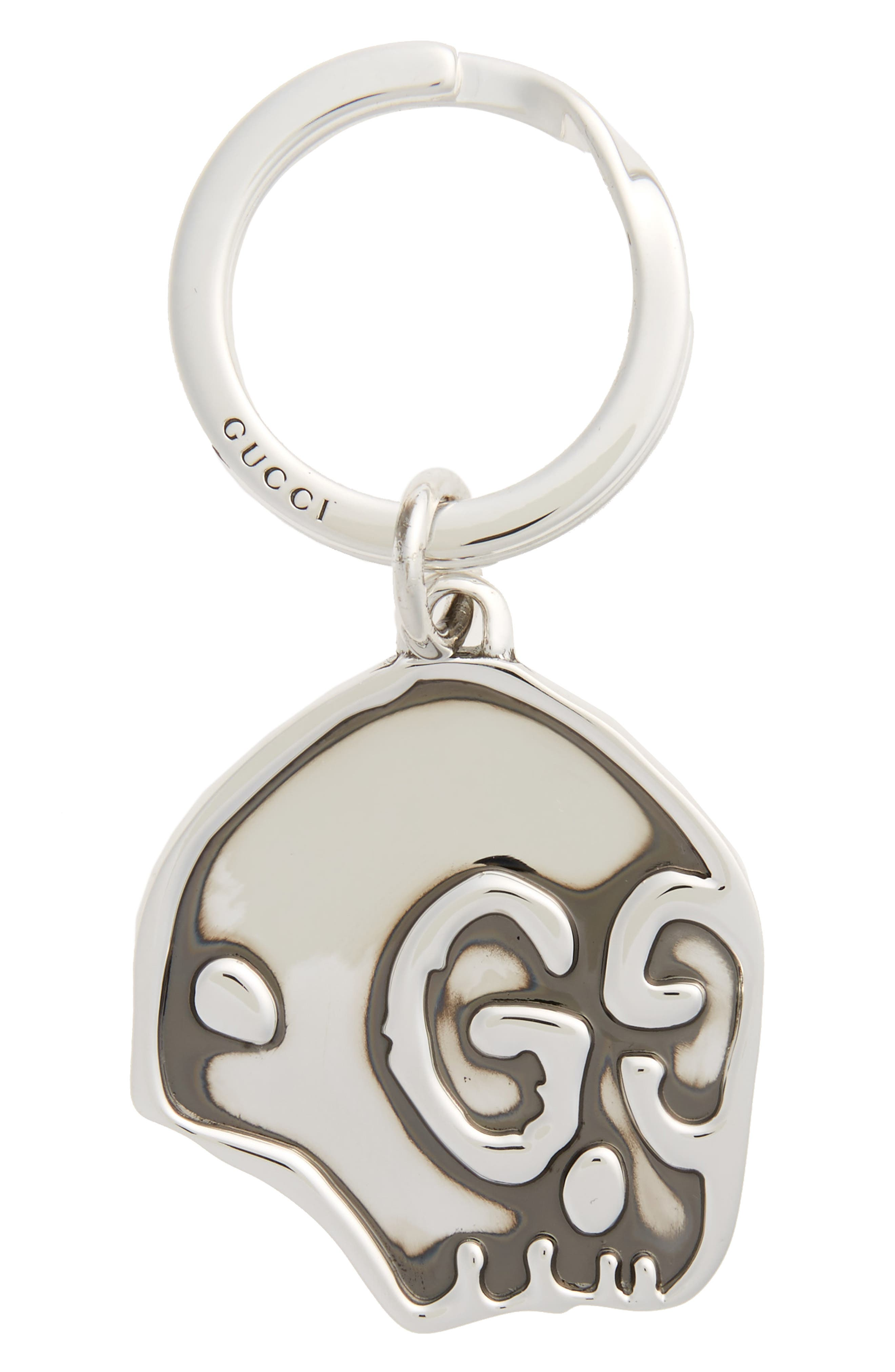 Ghost Sterling Silver Keyring,                         Main,                         color,