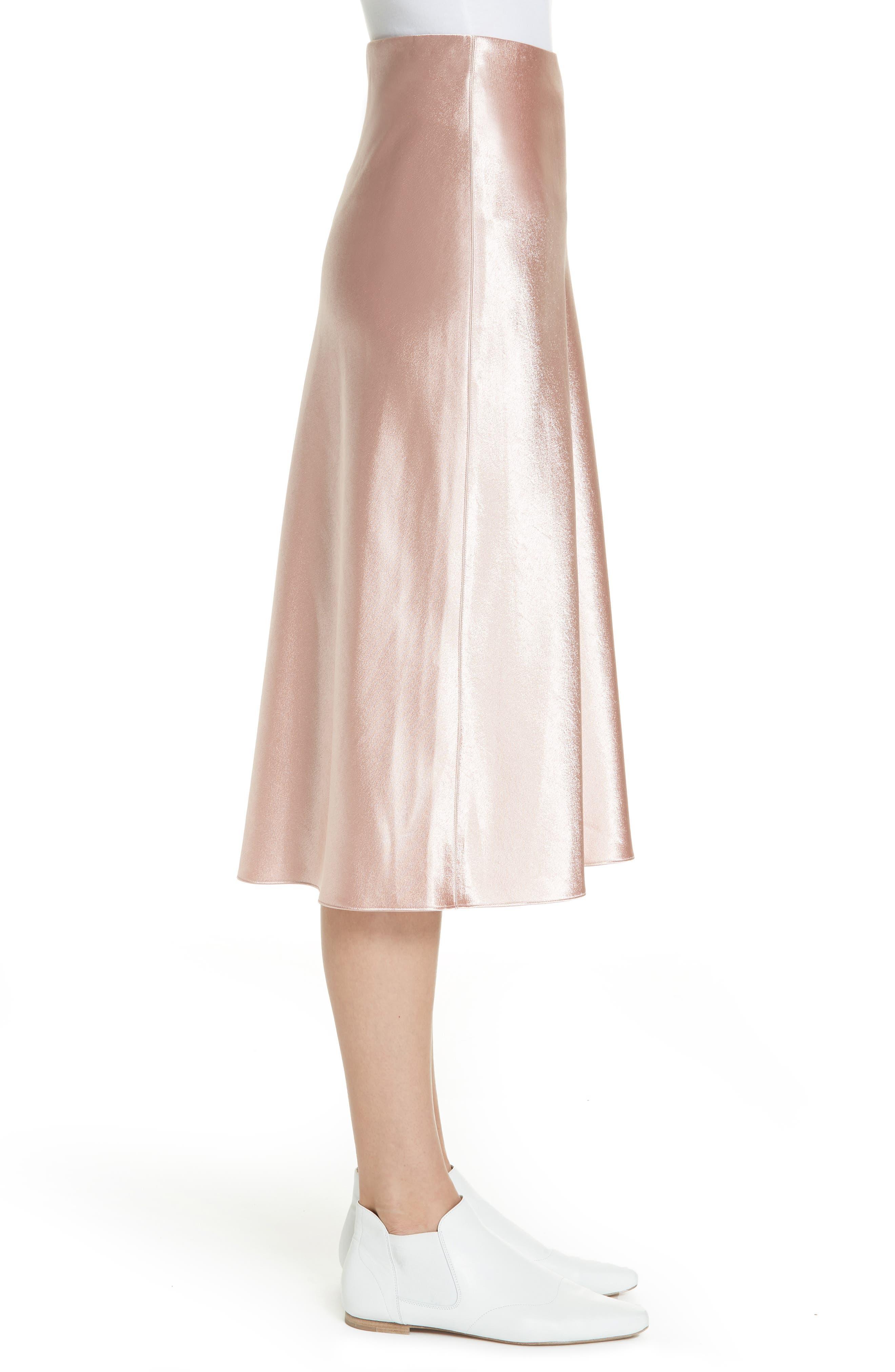 Satin Slip Skirt,                             Alternate thumbnail 3, color,                             BLUSH