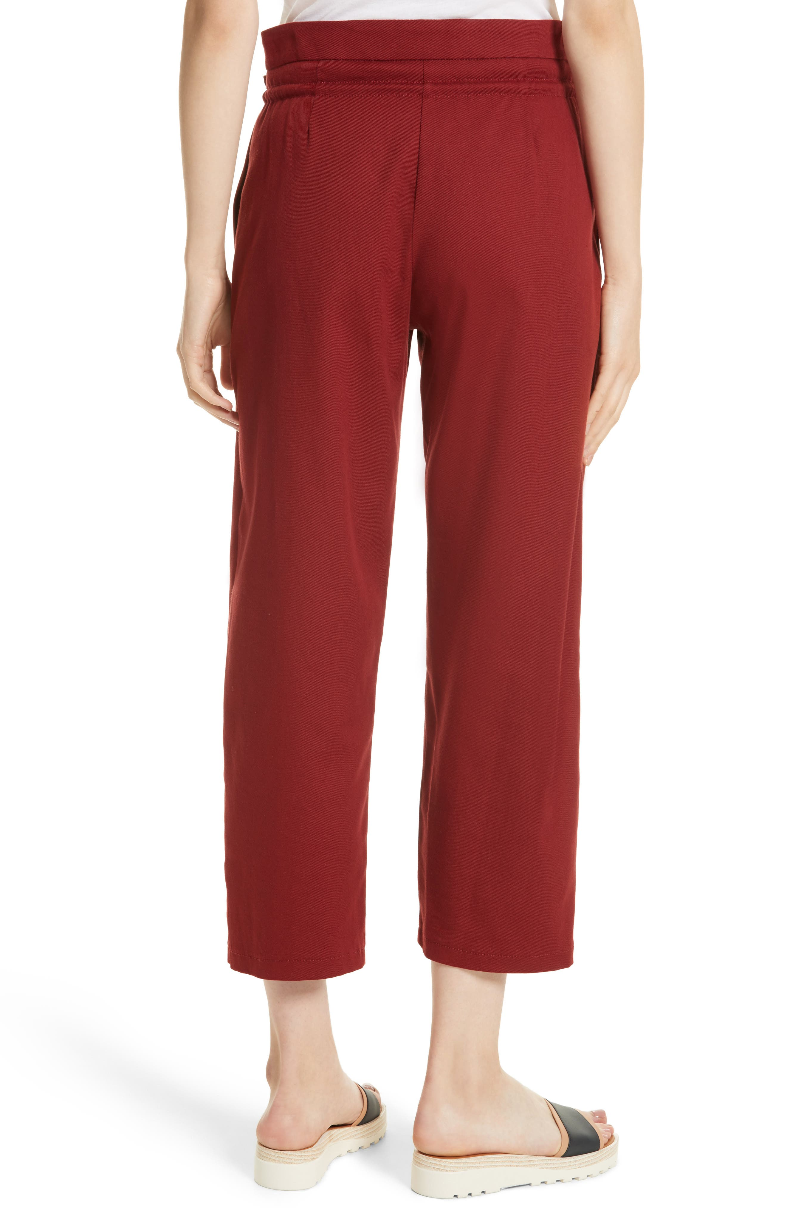 Ruffle Trim Drawstring Trousers,                             Alternate thumbnail 2, color,