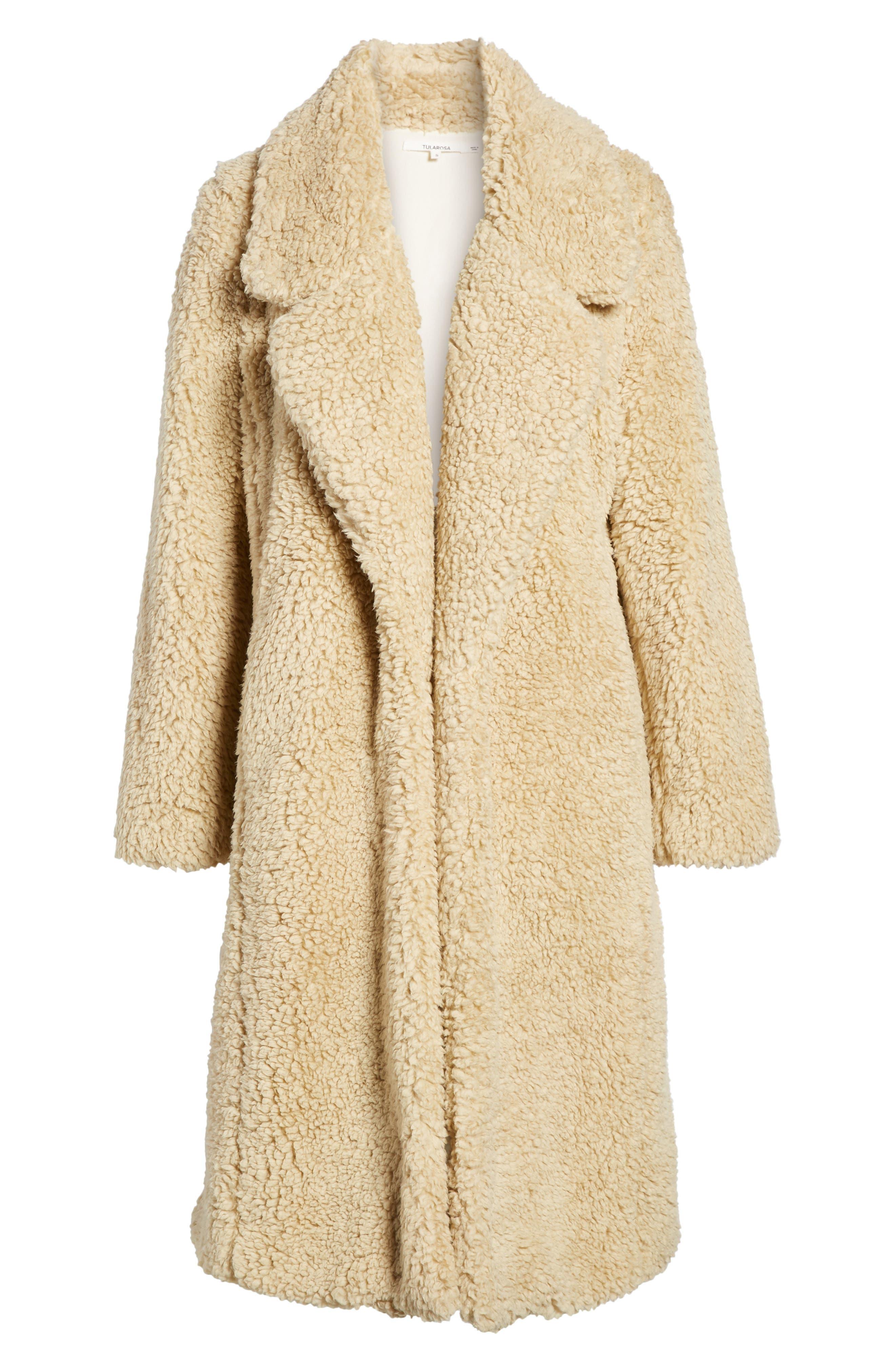 Violet Teddy Bear Coat,                             Alternate thumbnail 5, color,                             250