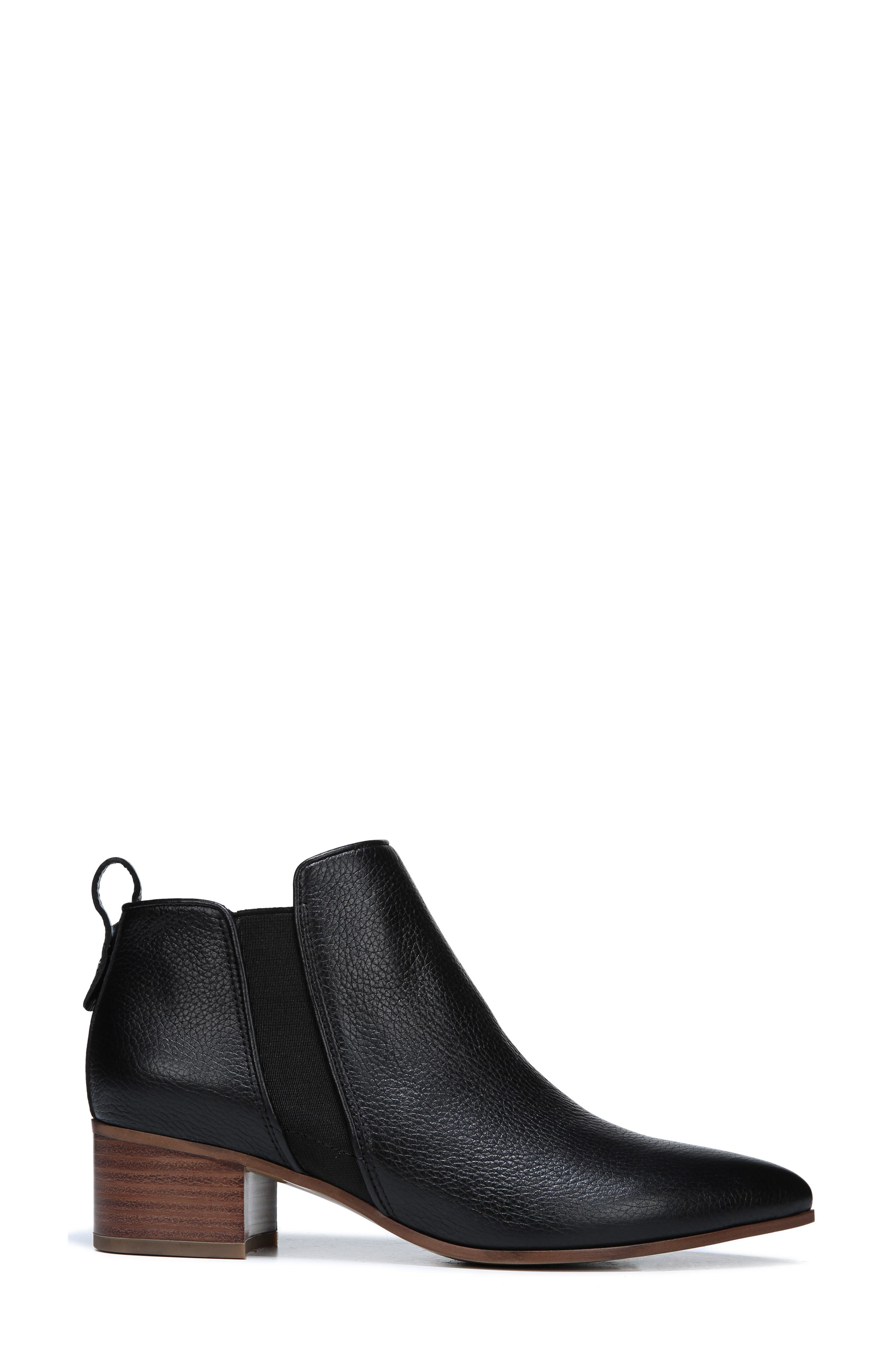 Jollie Bootie,                             Alternate thumbnail 3, color,                             BLACK LEATHER