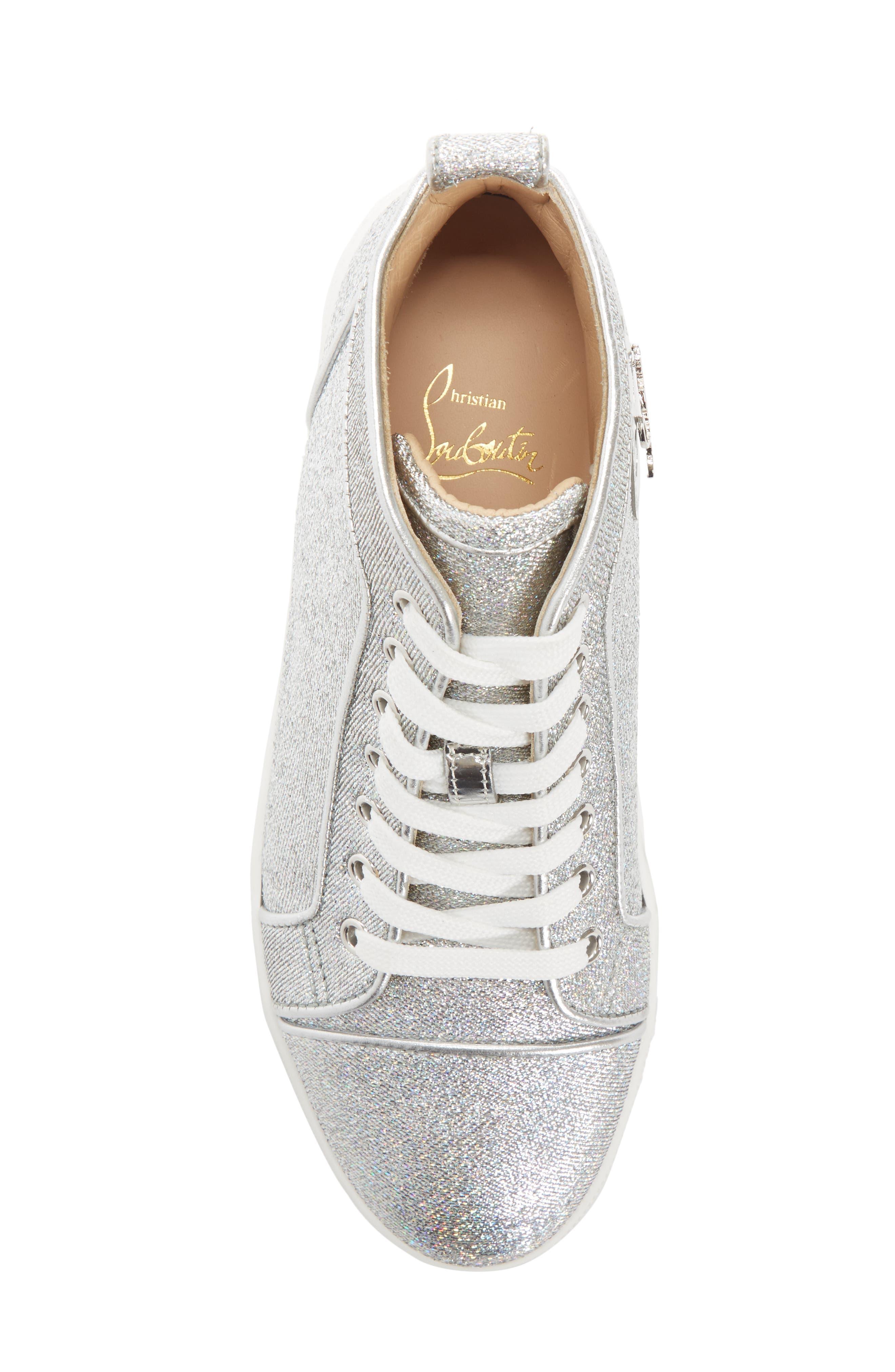 Orlato Metallic High Top Sneaker,                             Alternate thumbnail 4, color,                             040