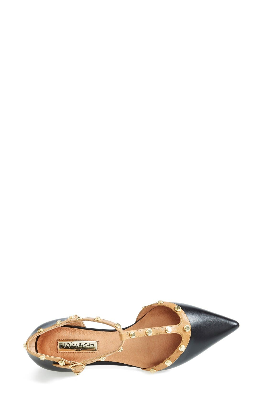'Olson' Pointy Toe Studded T-Strap Flat,                             Alternate thumbnail 20, color,