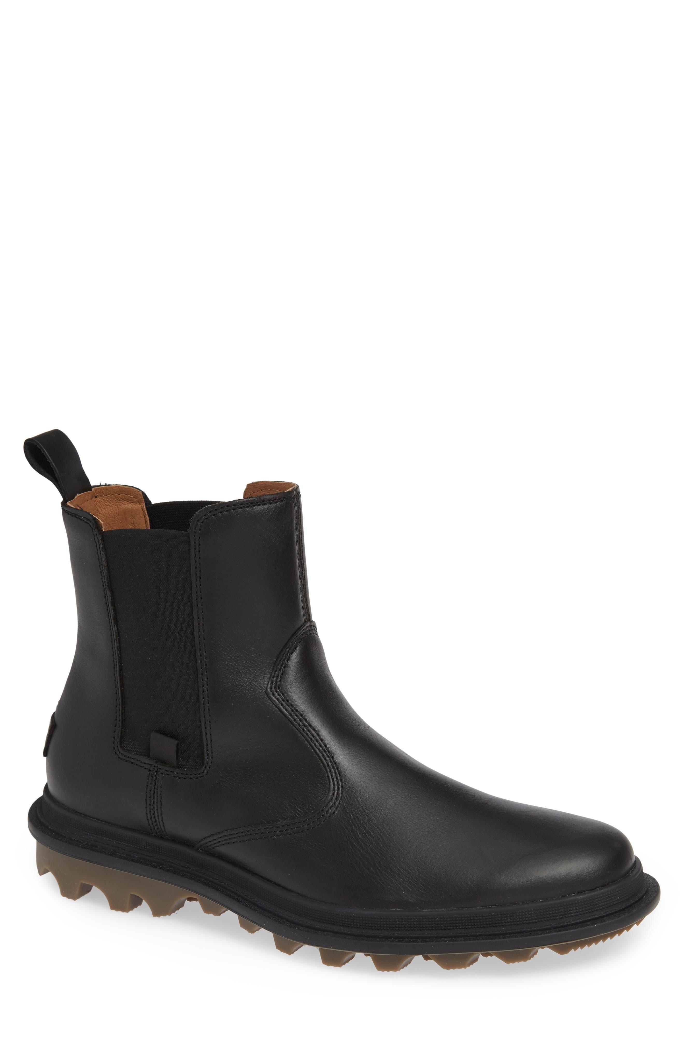 SOREL,                             Ace Waterproof Chelsea Boot,                             Main thumbnail 1, color,                             010