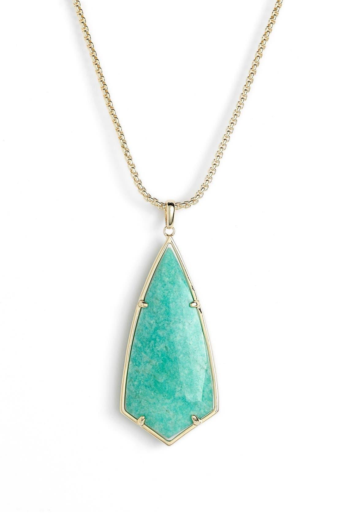 'Carole' Long Semiprecious Stone Pendant Necklace,                             Alternate thumbnail 20, color,