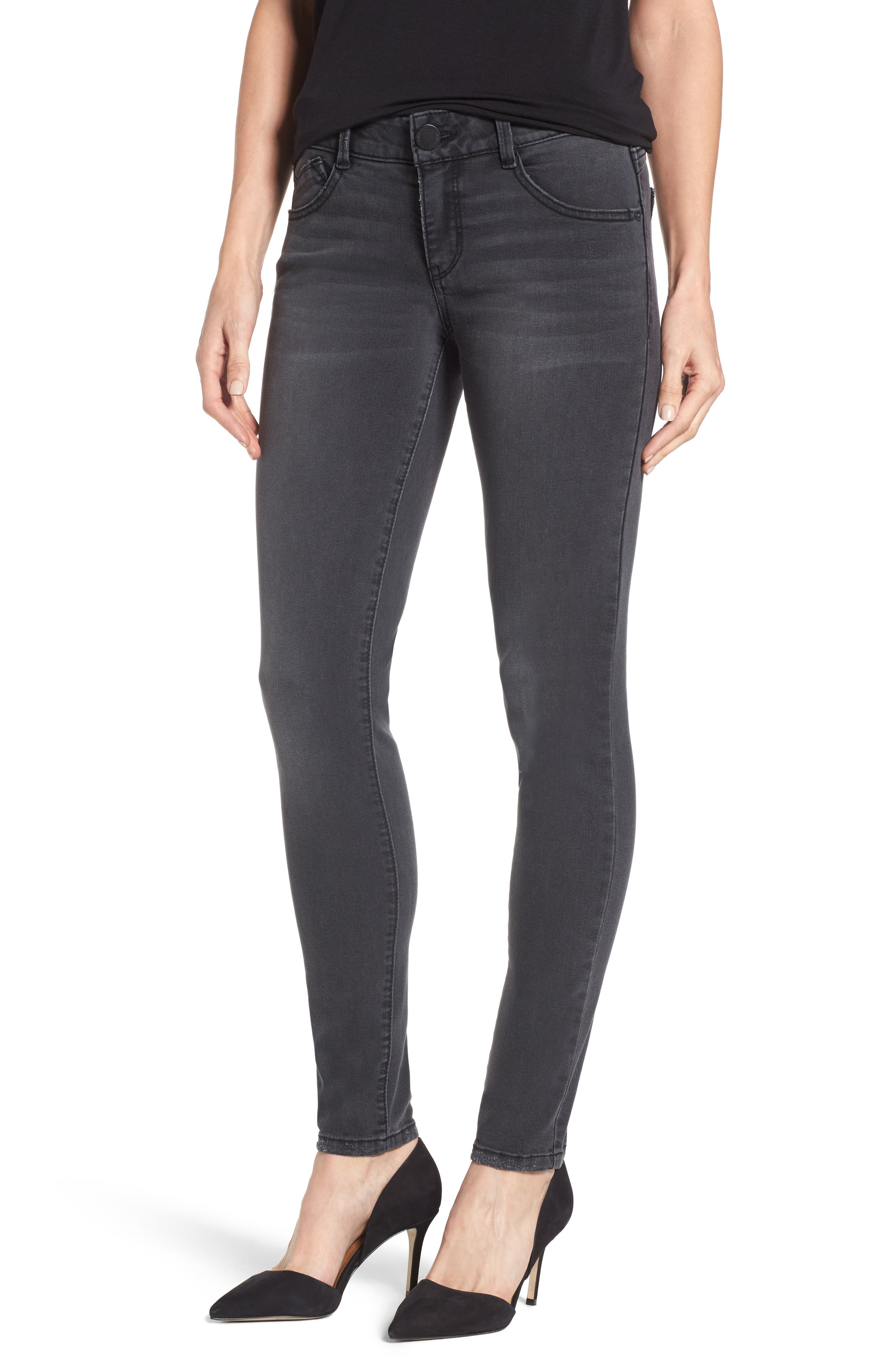 Ab-solution Stretch Skinny Jeans,                         Main,                         color, GREY