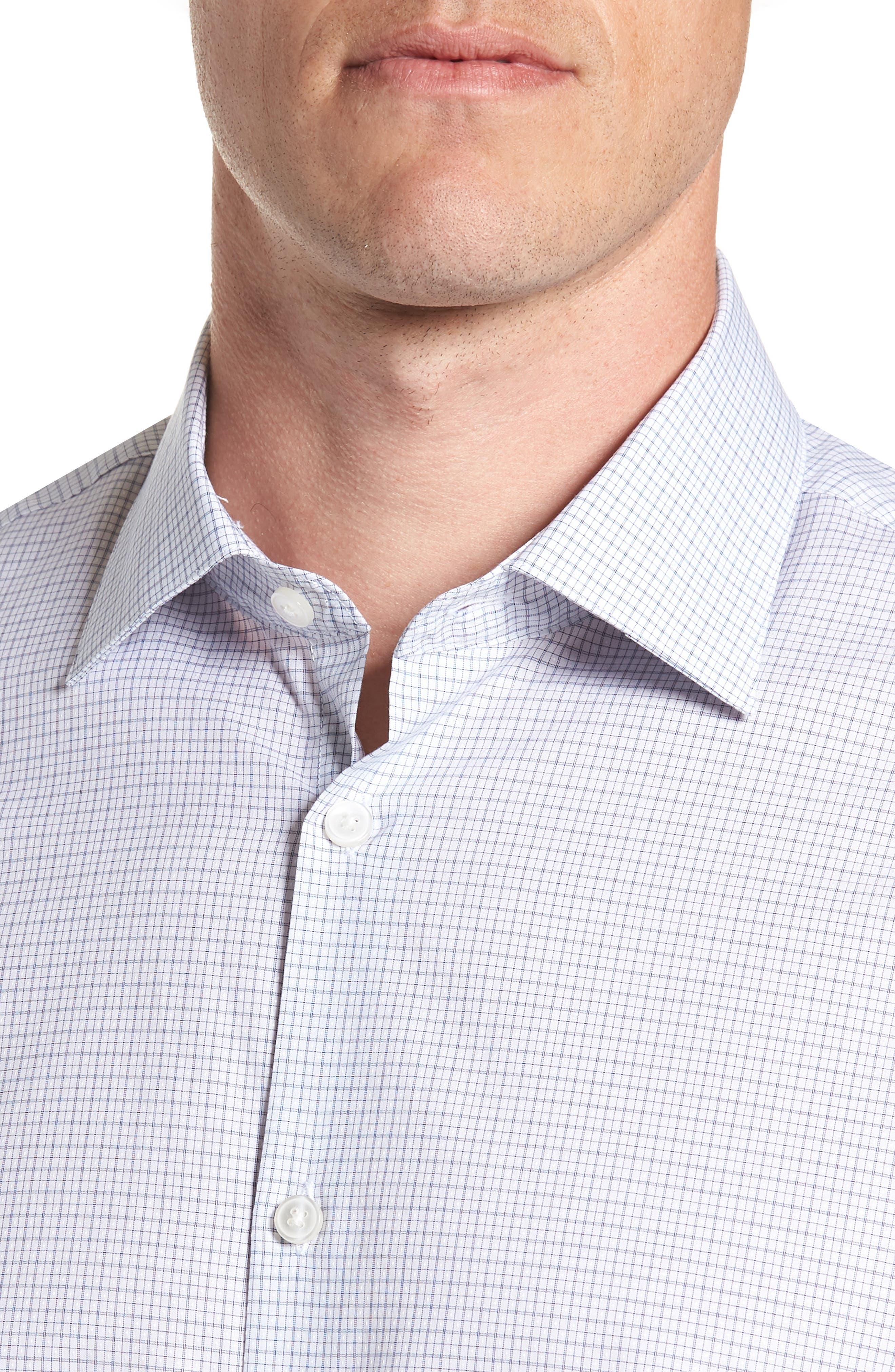 JOHN VARVATOS STAR USA,                             Micro Plaid Regular Fit Dress Shirt,                             Alternate thumbnail 2, color,                             428