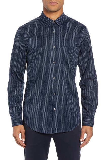 Theory Cottons IRVING PA CONNEL DOTTED SPORT SHIRT