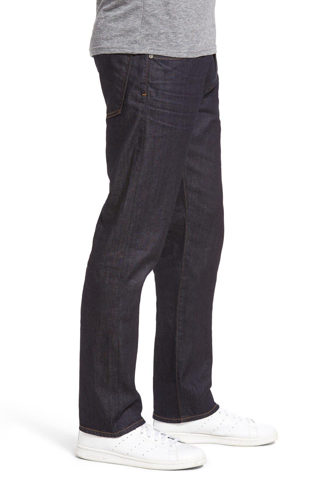 Core Slim Straight Leg Jeans,                             Alternate thumbnail 4, color,