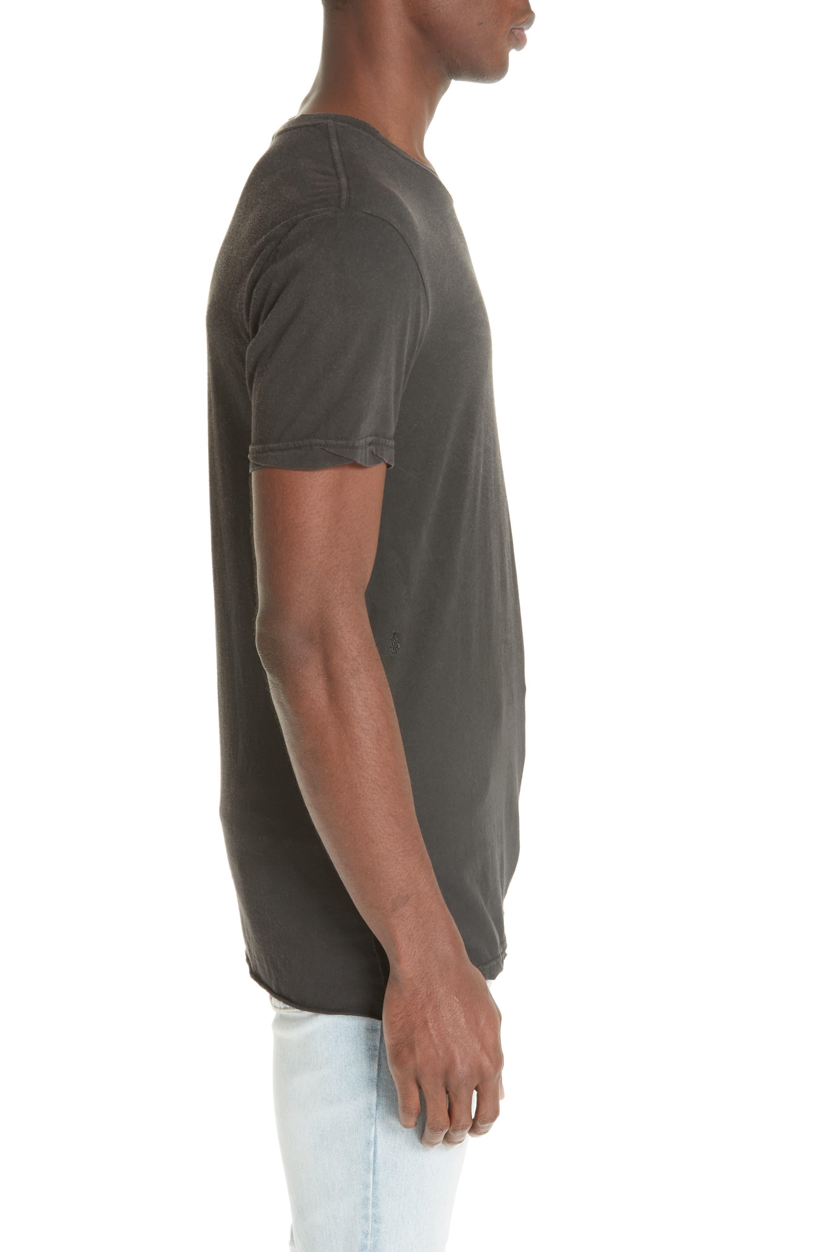Faded T-Shirt,                             Alternate thumbnail 3, color,                             BLACK