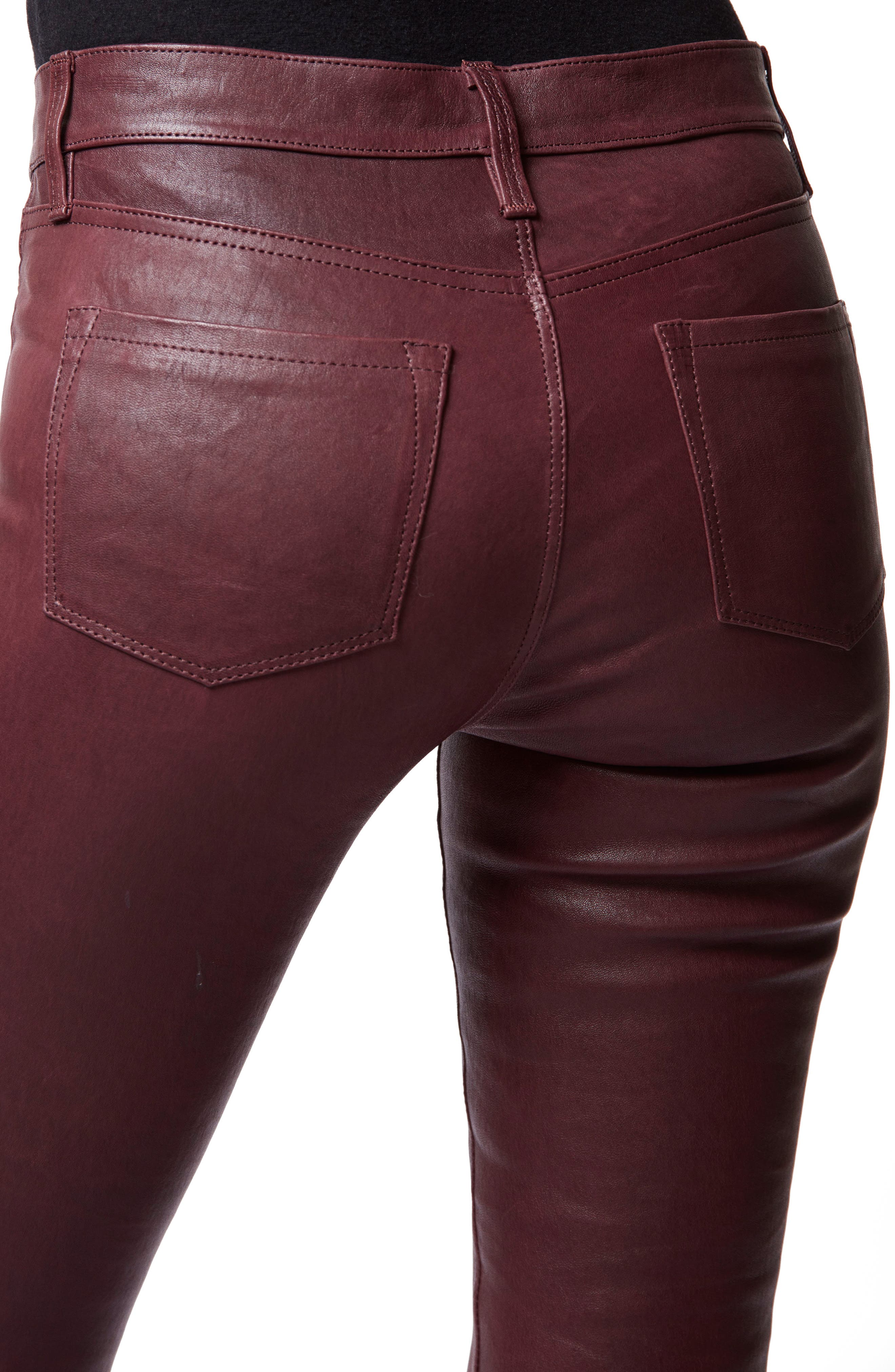 '8001' Lambskin Leather Pants,                             Alternate thumbnail 4, color,                             510