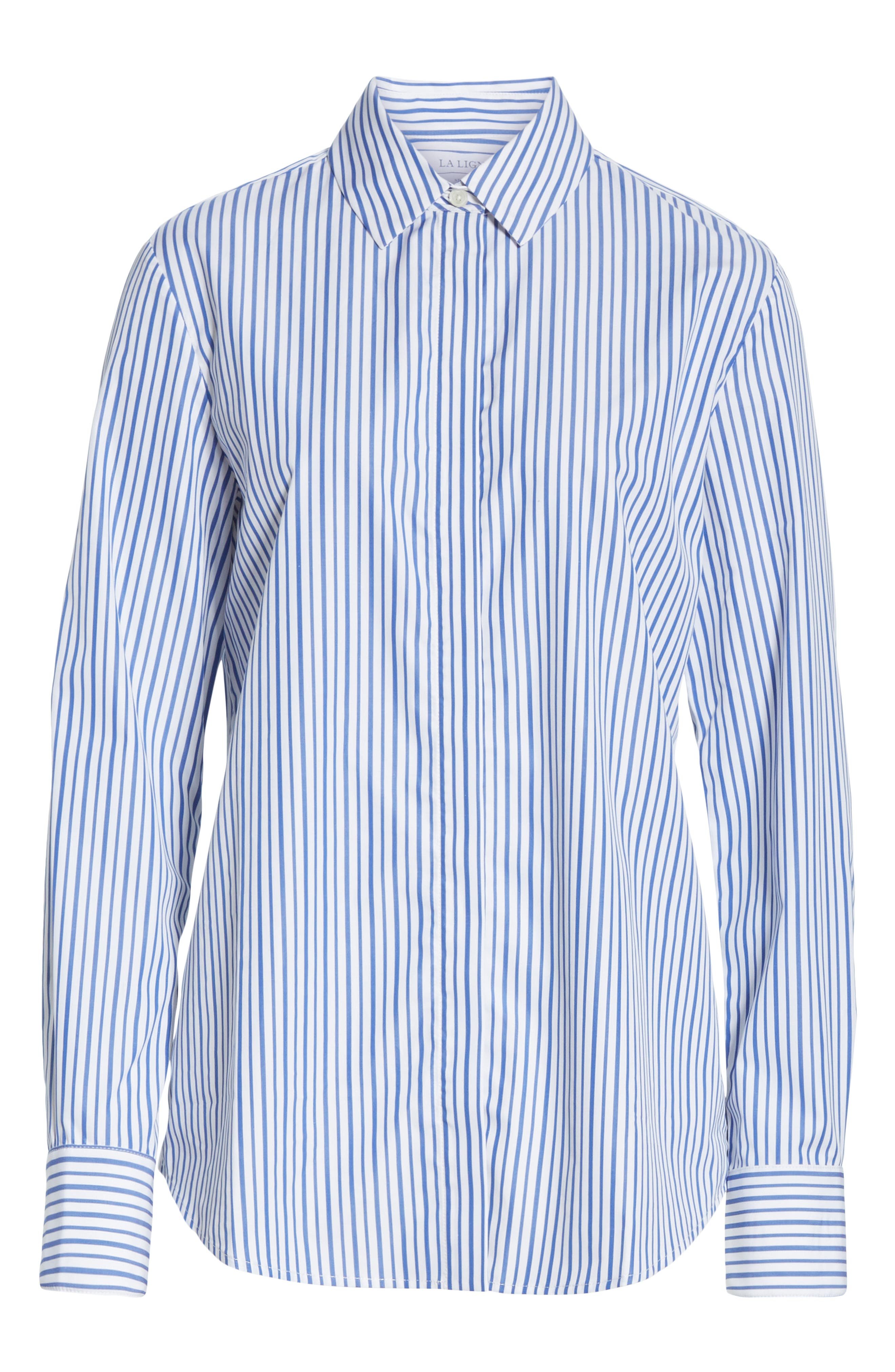 Bleu Man Shirt,                             Alternate thumbnail 6, color,                             BLUE AND WHITE STRIPES