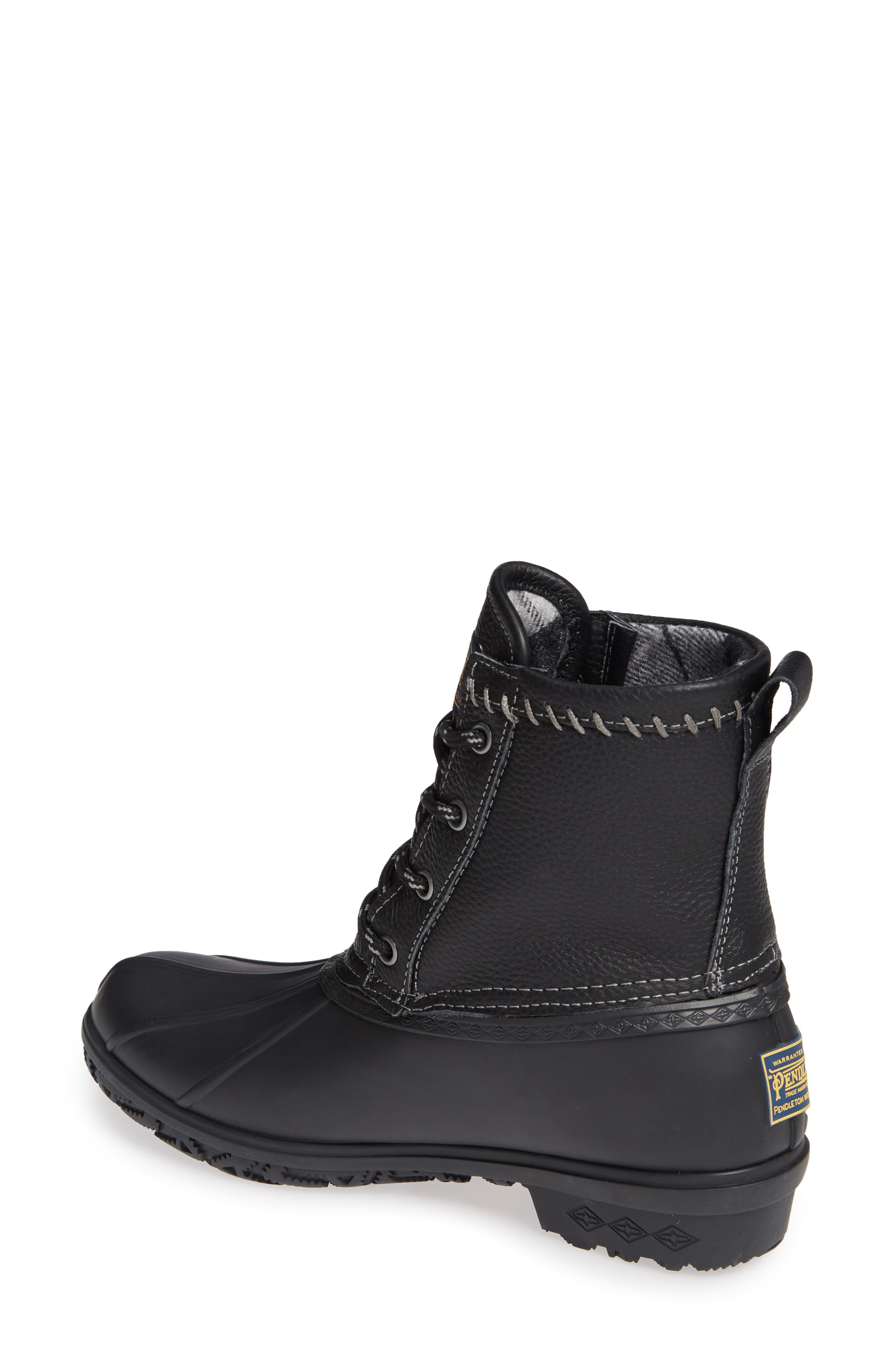 Waterproof Duck Boot,                             Alternate thumbnail 2, color,                             BLACK RUBBER