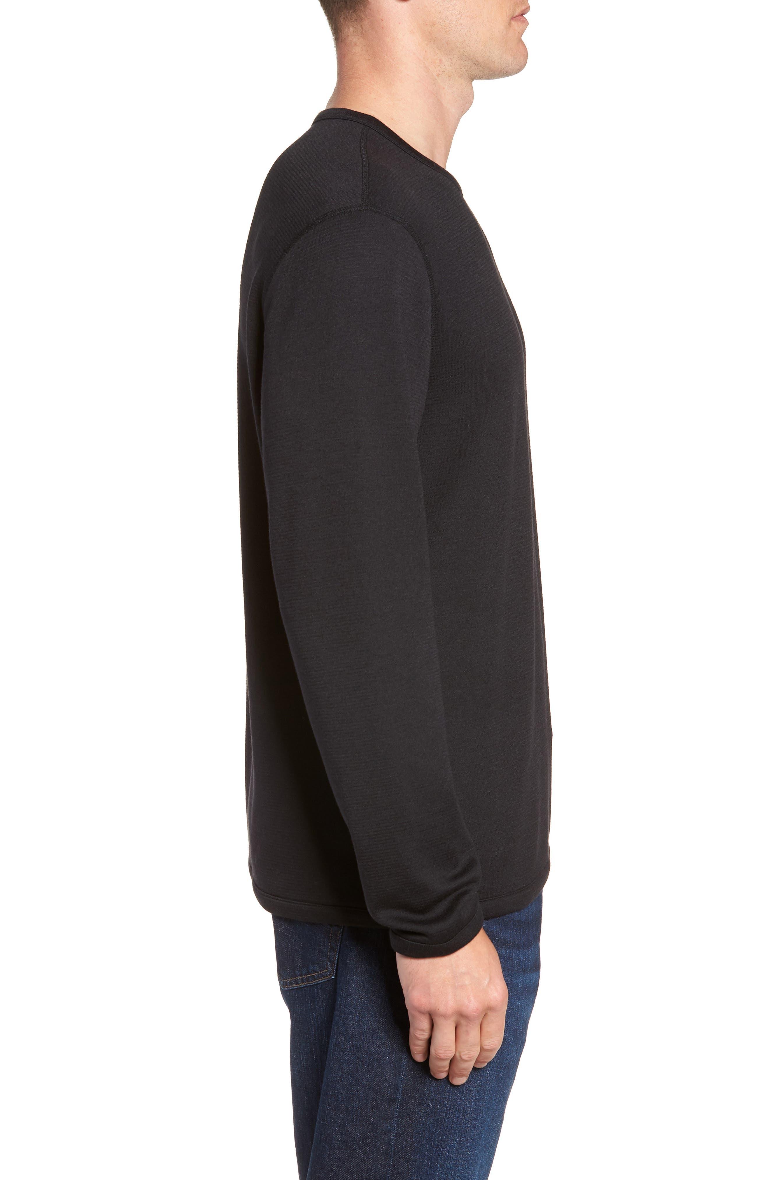 Crewneck Sweater,                             Alternate thumbnail 4, color,                             BLACK CAVIAR