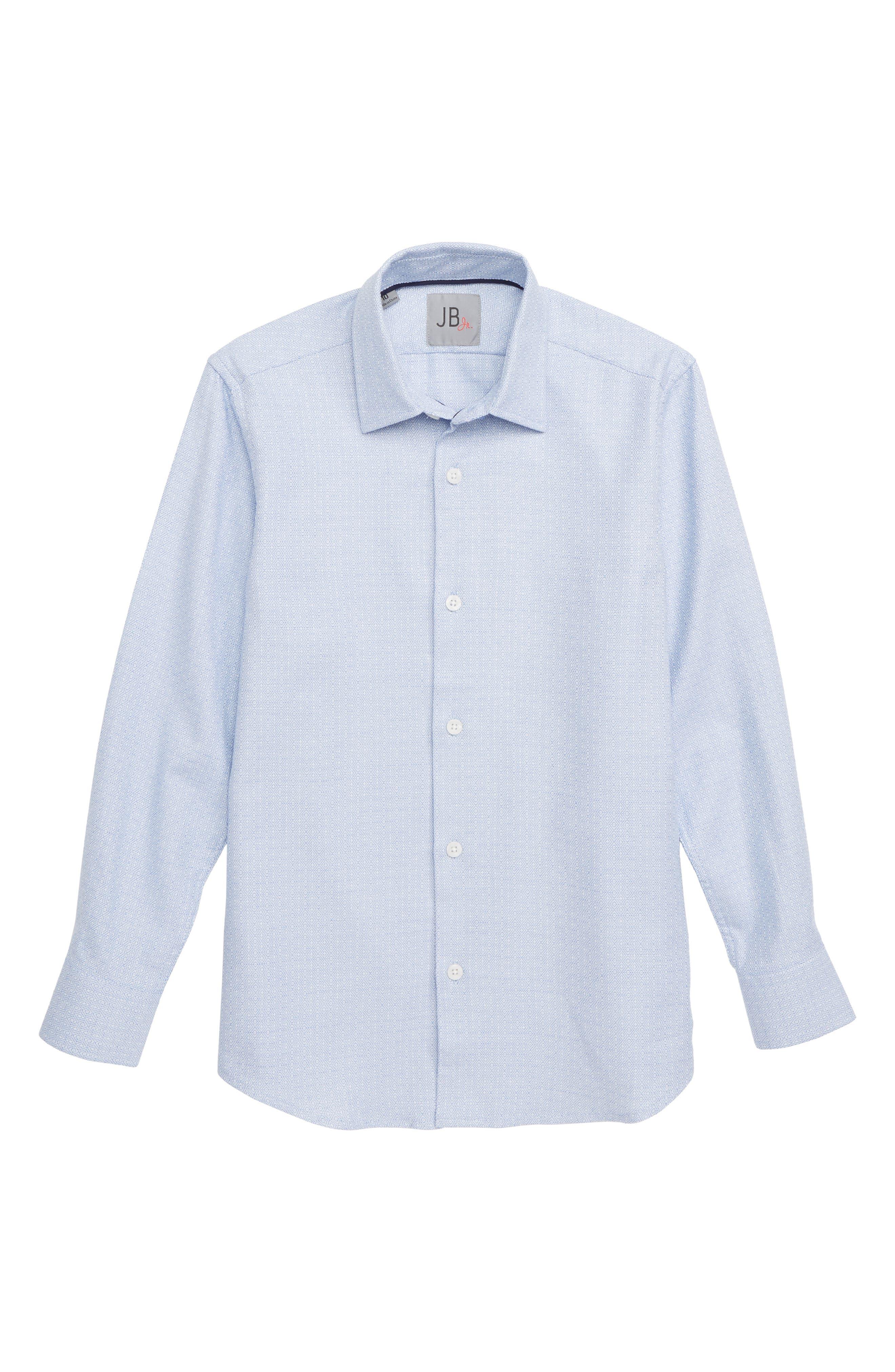 Tile Pattern Dress Shirt,                         Main,                         color, BLUE