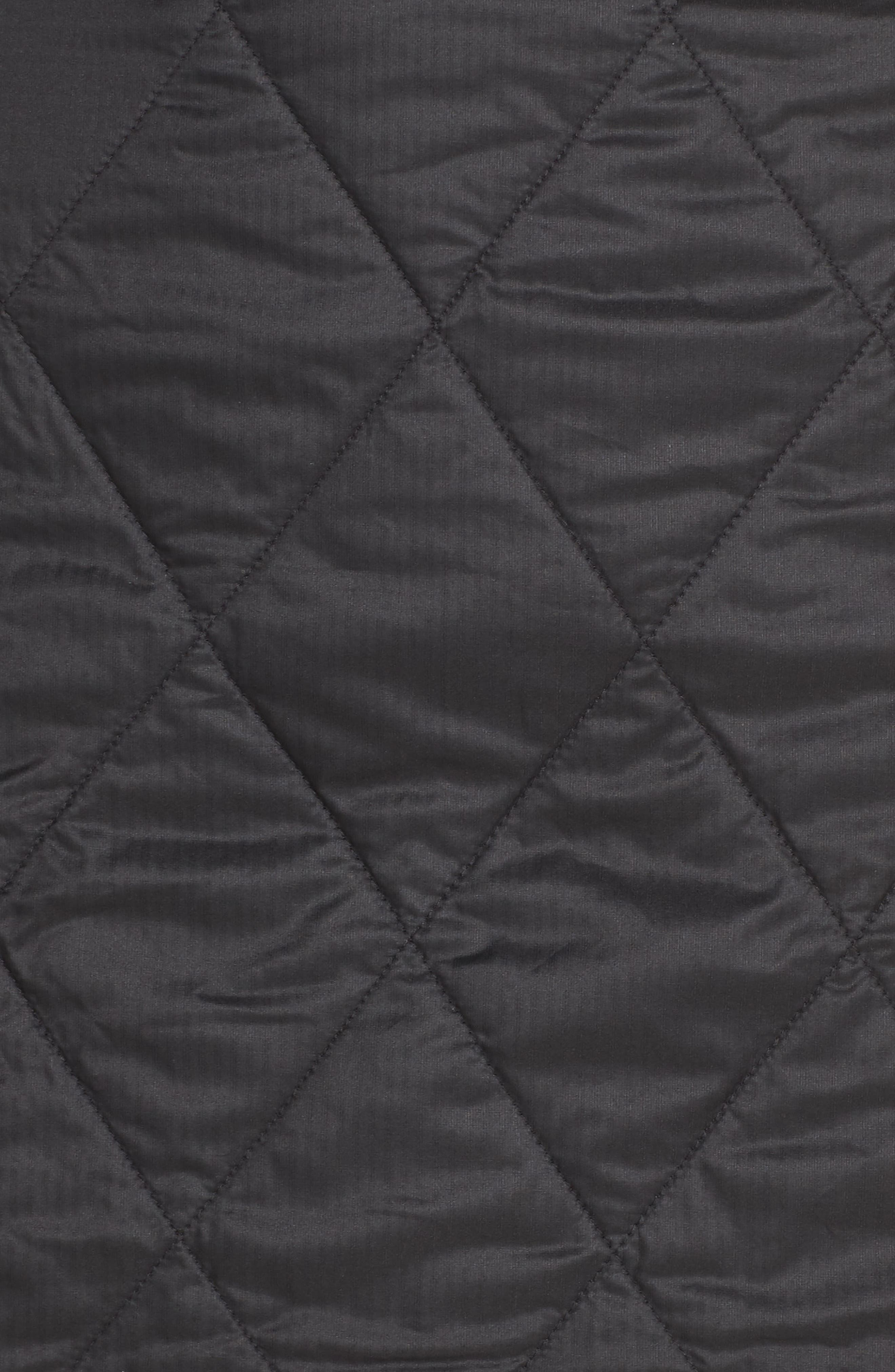 Helix Quilted Wool Blend Skirt,                             Alternate thumbnail 4, color,                             BLACK