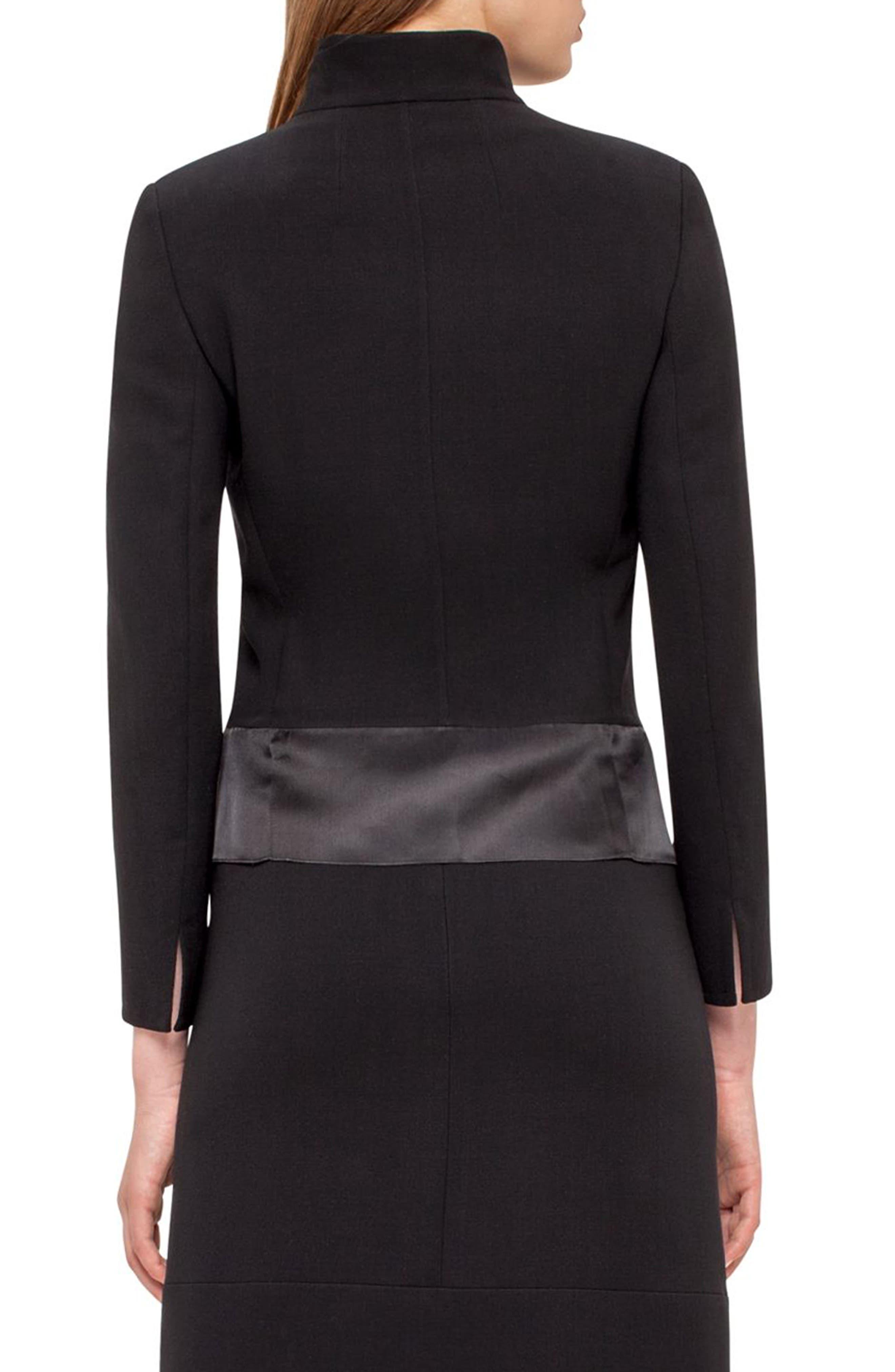 Ilke Double Face Wool Blend Jacket,                             Alternate thumbnail 6, color,                             BLACK
