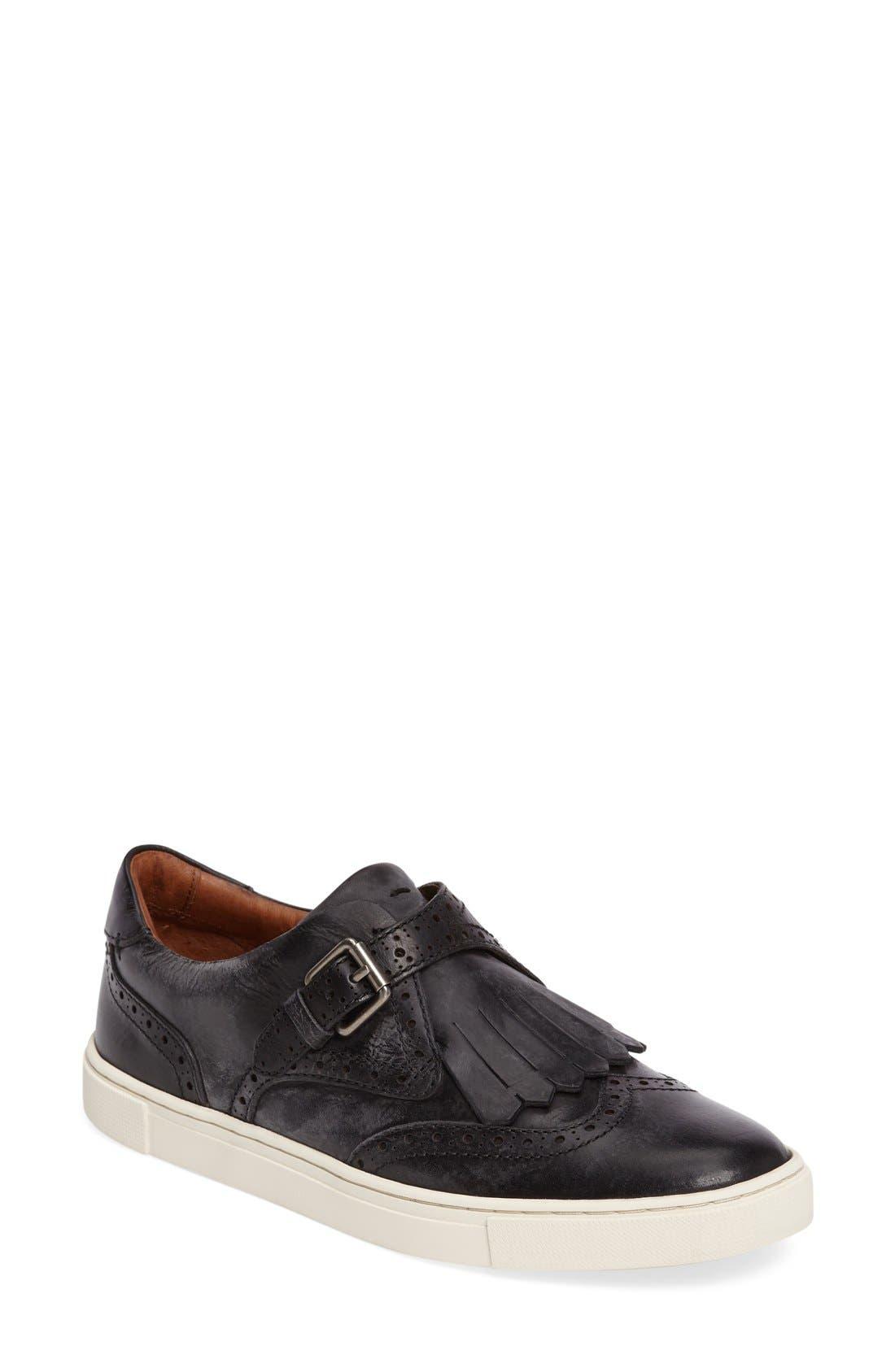 'Gemma' Kiltie Slip On-Sneaker,                             Main thumbnail 1, color,