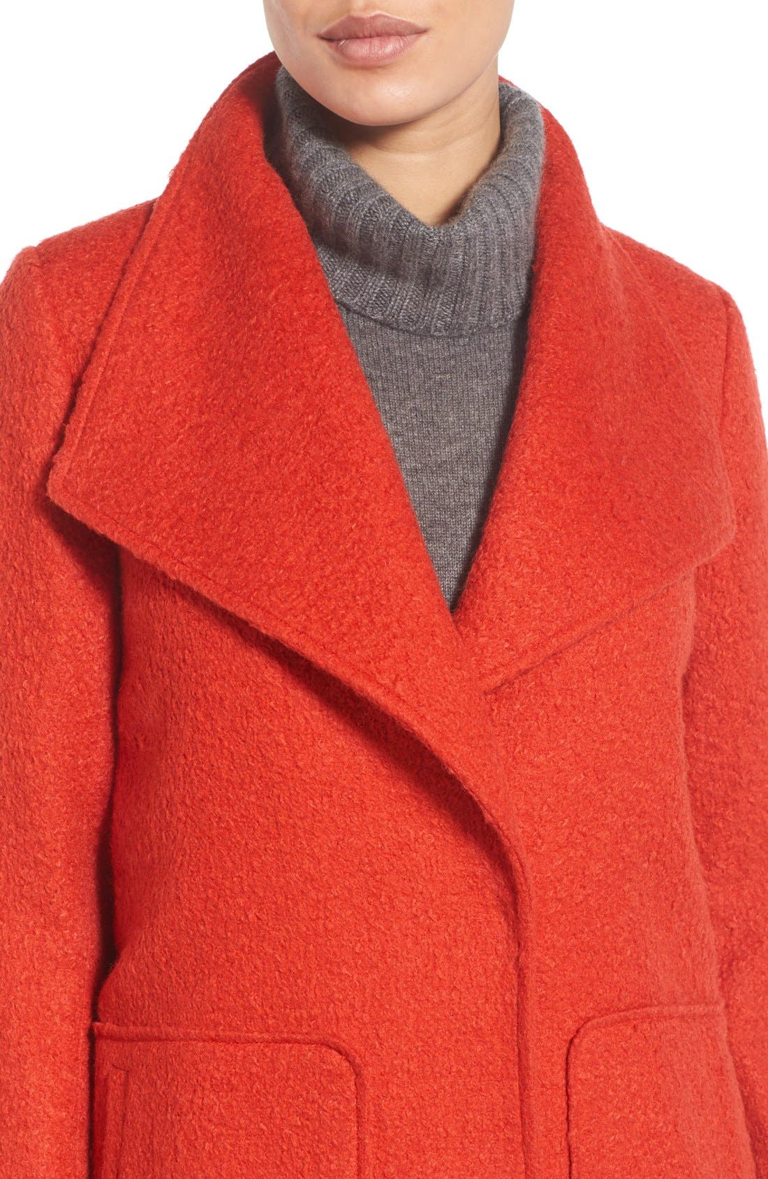 Textured Long Coat,                             Alternate thumbnail 4, color,                             852