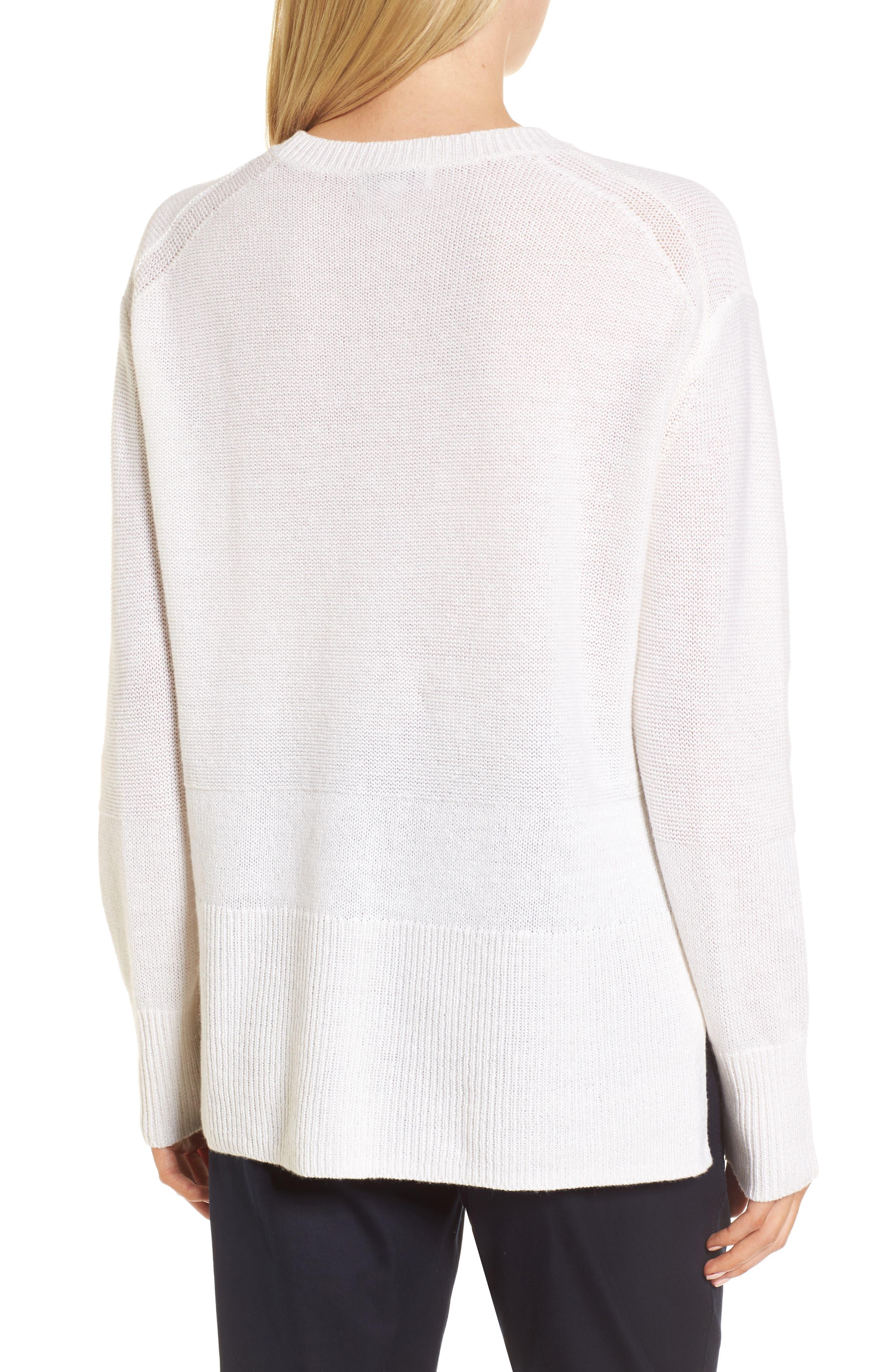 Linen & Cashmere Sweater,                             Alternate thumbnail 4, color,
