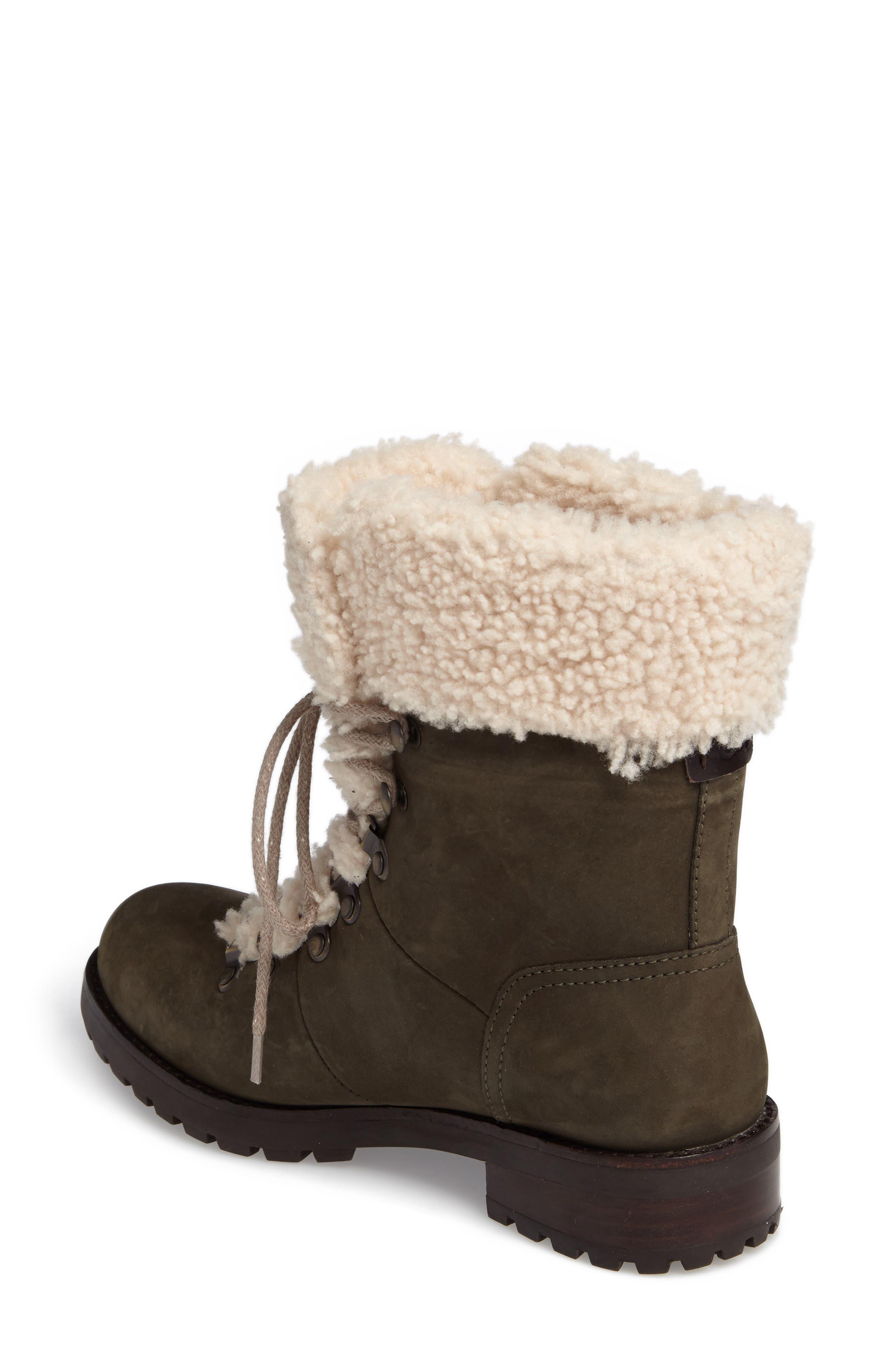 Fraser Genuine Shearling Water Resistant Boot,                             Alternate thumbnail 6, color,