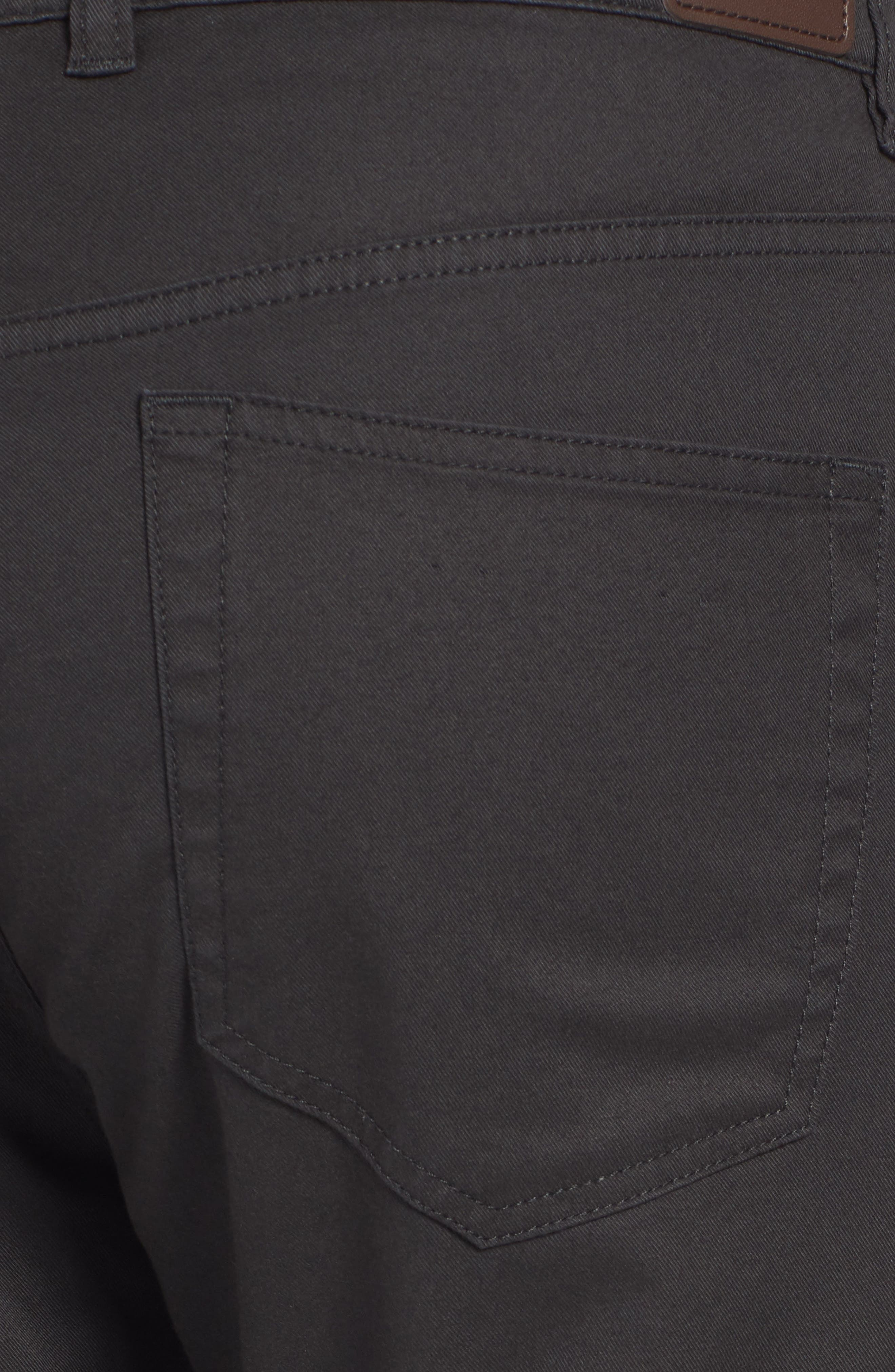 Soft Touch Twill Pants,                             Alternate thumbnail 5, color,                             BLACK