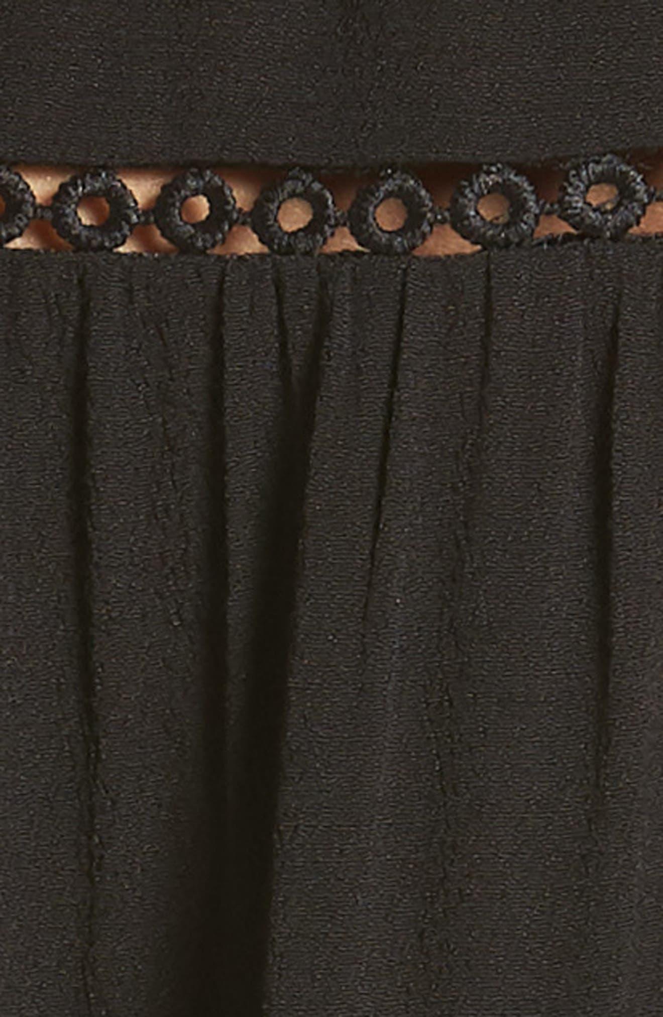 LIRA CLOTHING,                             Amelia Silk Blend Babydoll Dress,                             Alternate thumbnail 6, color,                             BLACK