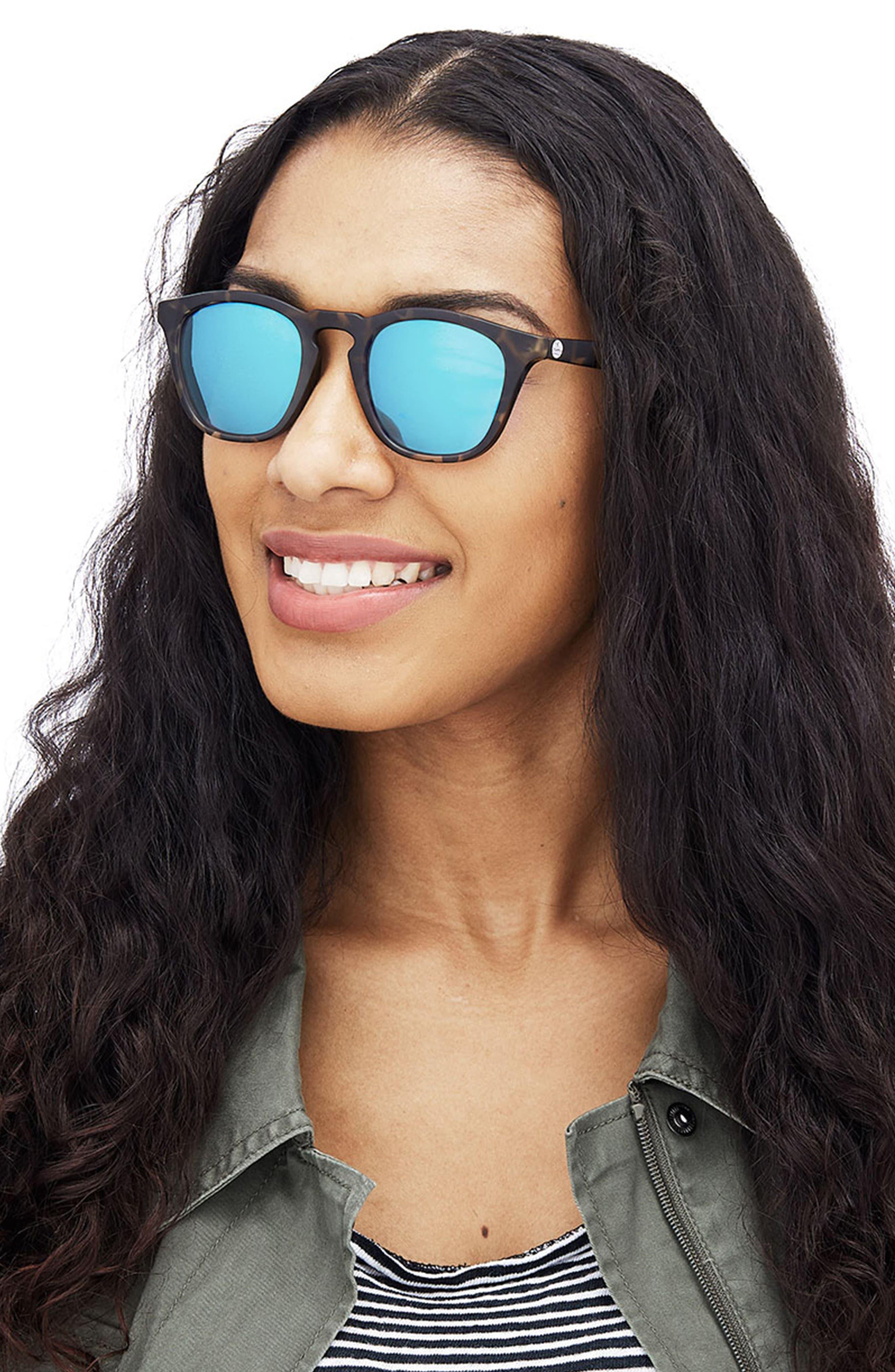SUNSKI,                             Portola 47mm Polarized Sunglasses,                             Alternate thumbnail 3, color,                             TORTOISE AQUA