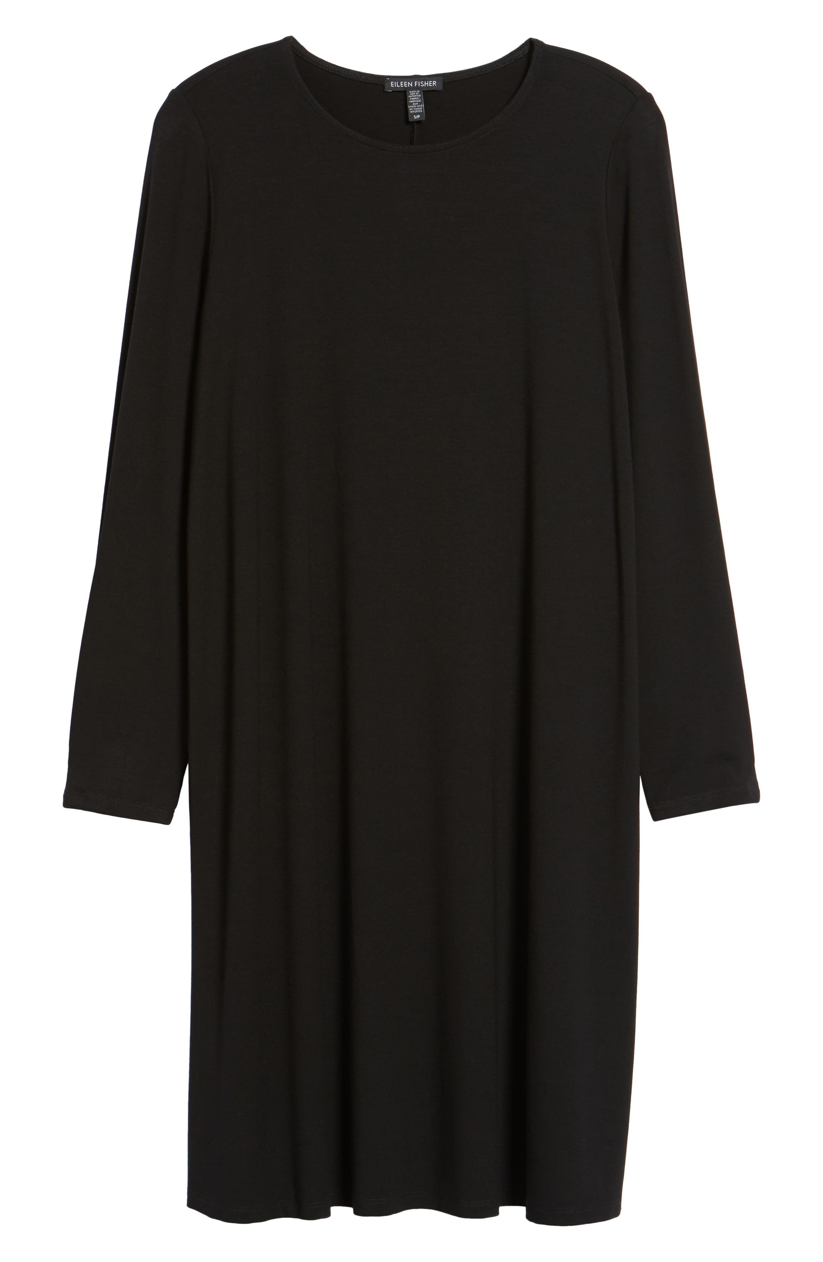 Jersey Shift Dress,                             Alternate thumbnail 6, color,                             001