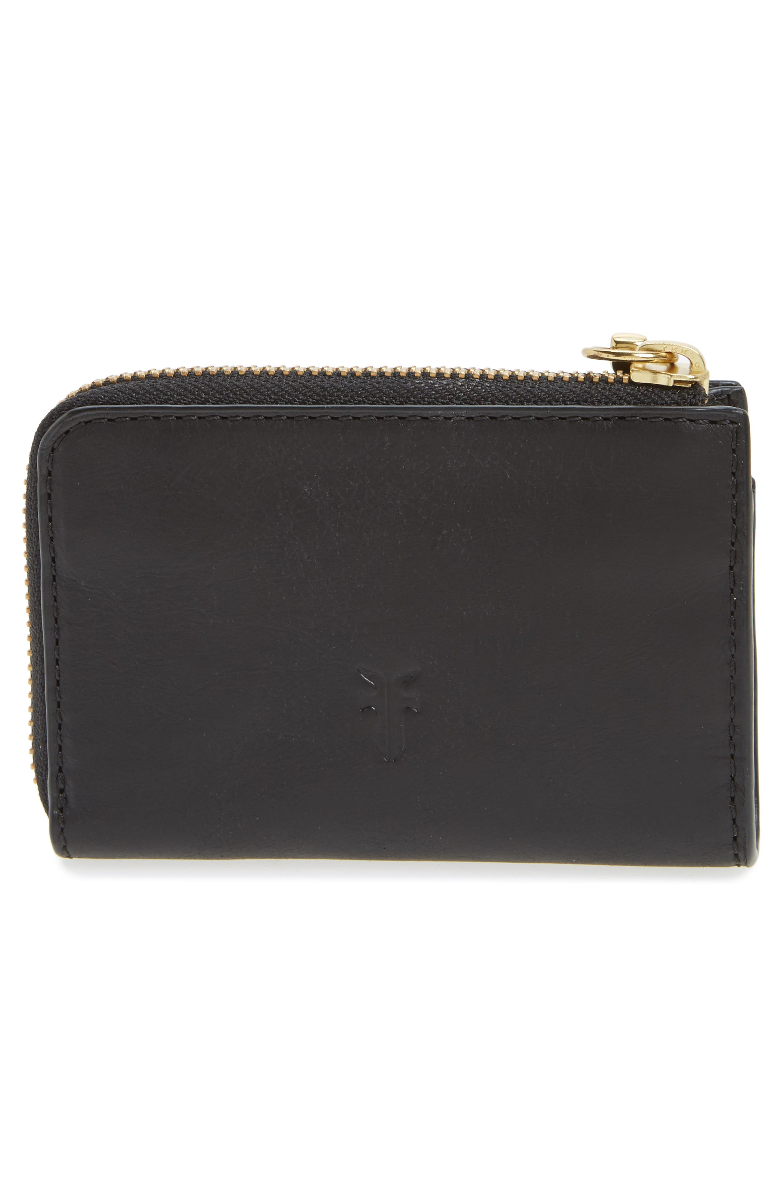 Small Ilana Harness Zip Leather Wallet,                             Alternate thumbnail 4, color,                             001