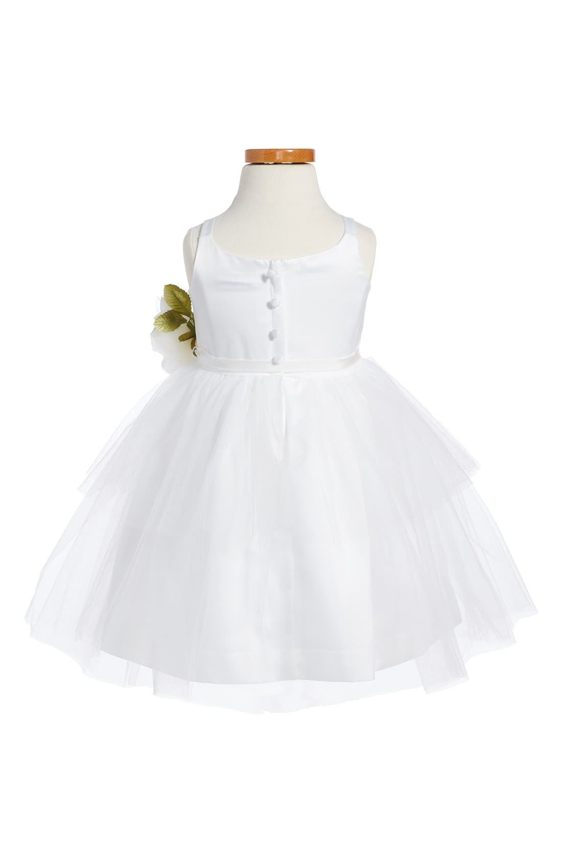 Tulle Ballerina Dress,                             Alternate thumbnail 3, color,                             IVORY