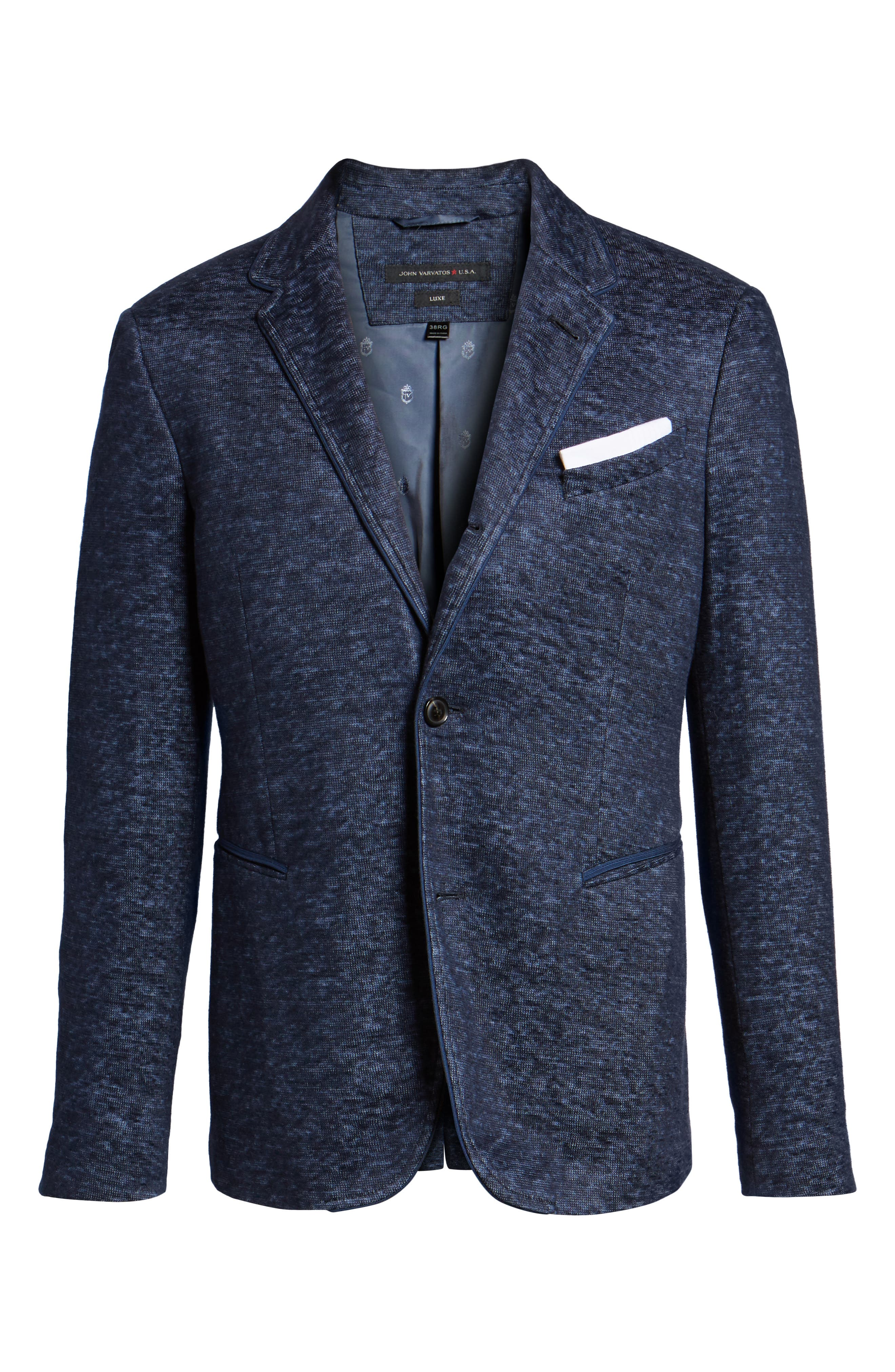 Regular Fit Cotton & Linen Blazer,                             Alternate thumbnail 5, color,                             406