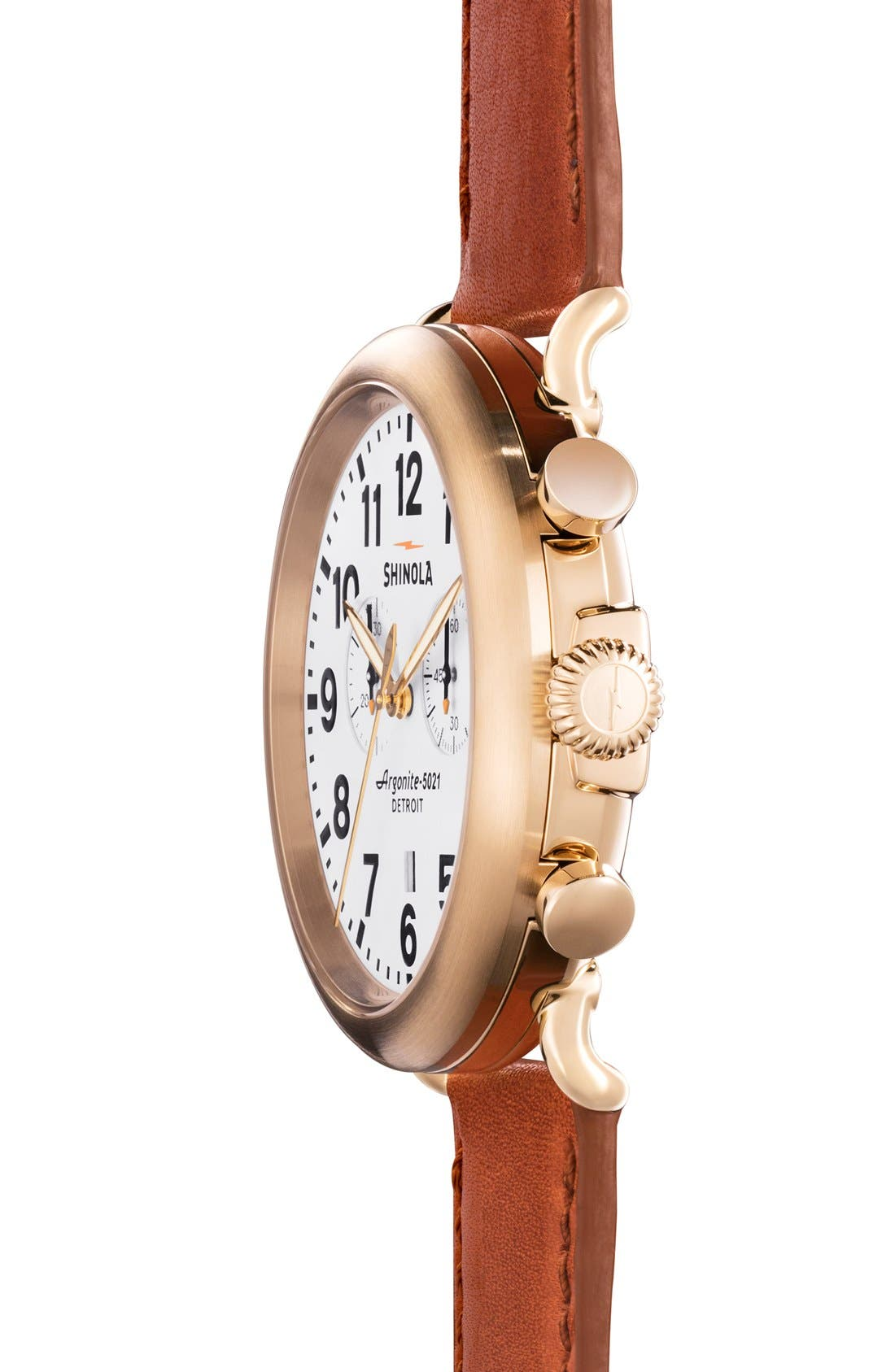 The Runwell Chrono Leather Strap Watch, 47mm,                             Alternate thumbnail 42, color,