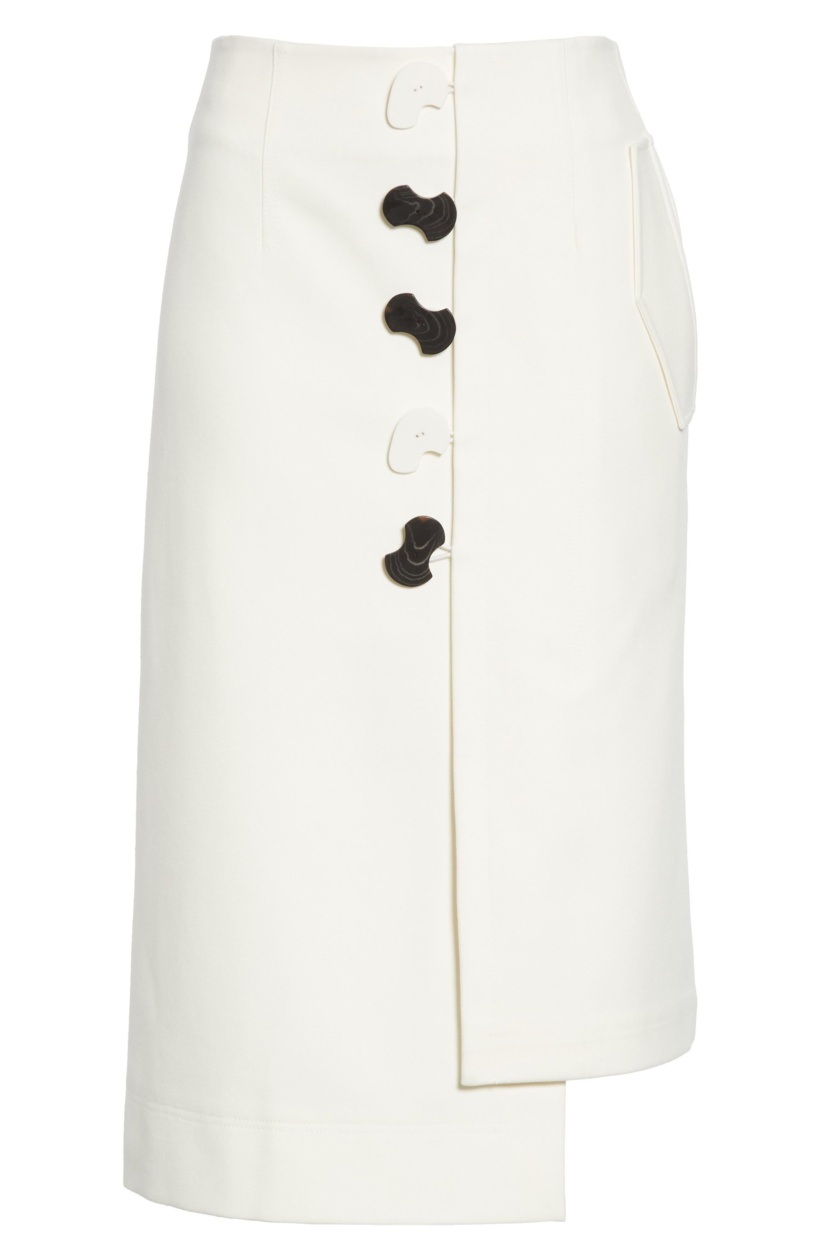 Mora Asymmetrical Faux Wrap Skirt,                             Alternate thumbnail 6, color,                             903