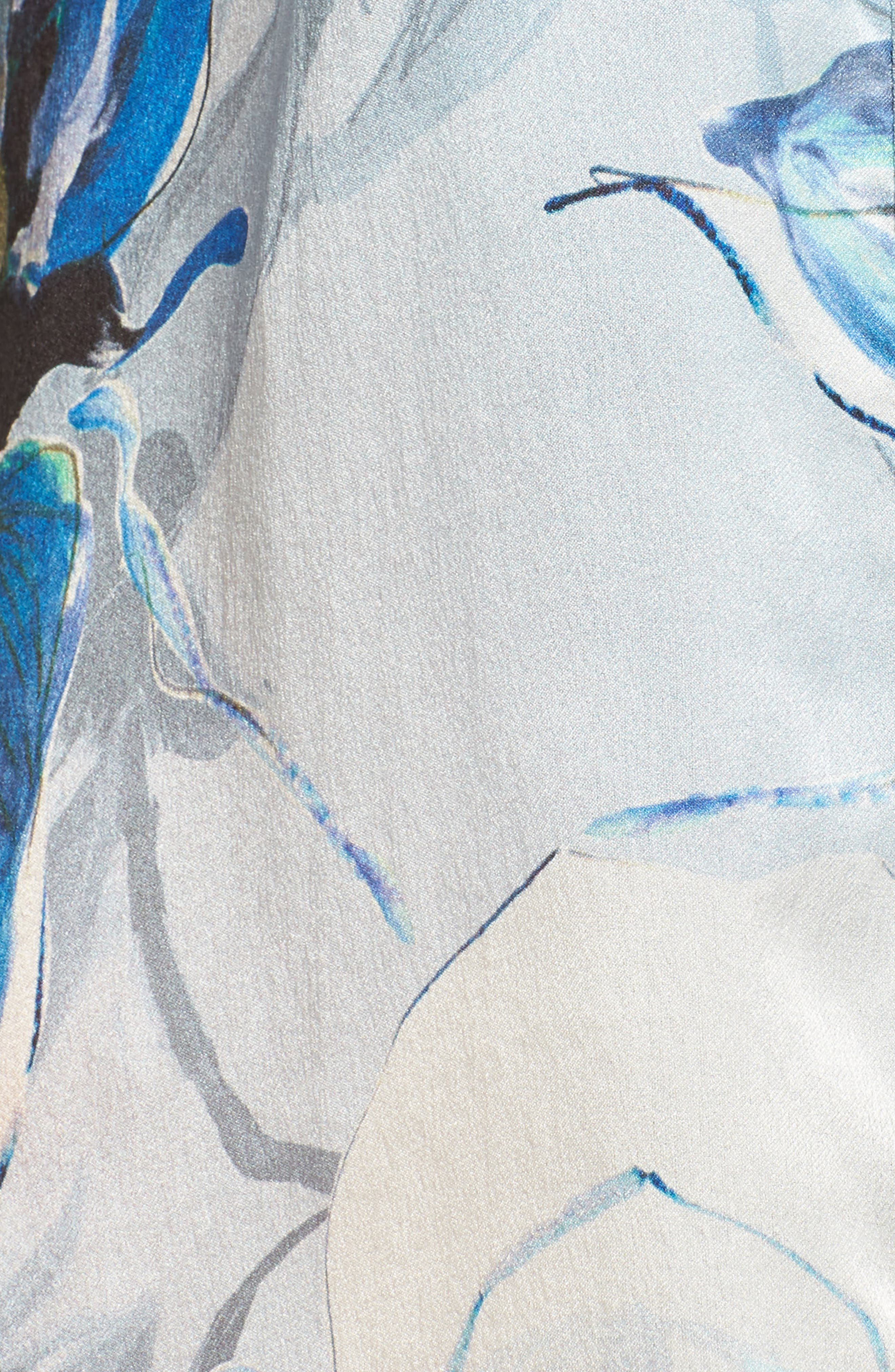 Short Silk Robe,                             Alternate thumbnail 5, color,                             400