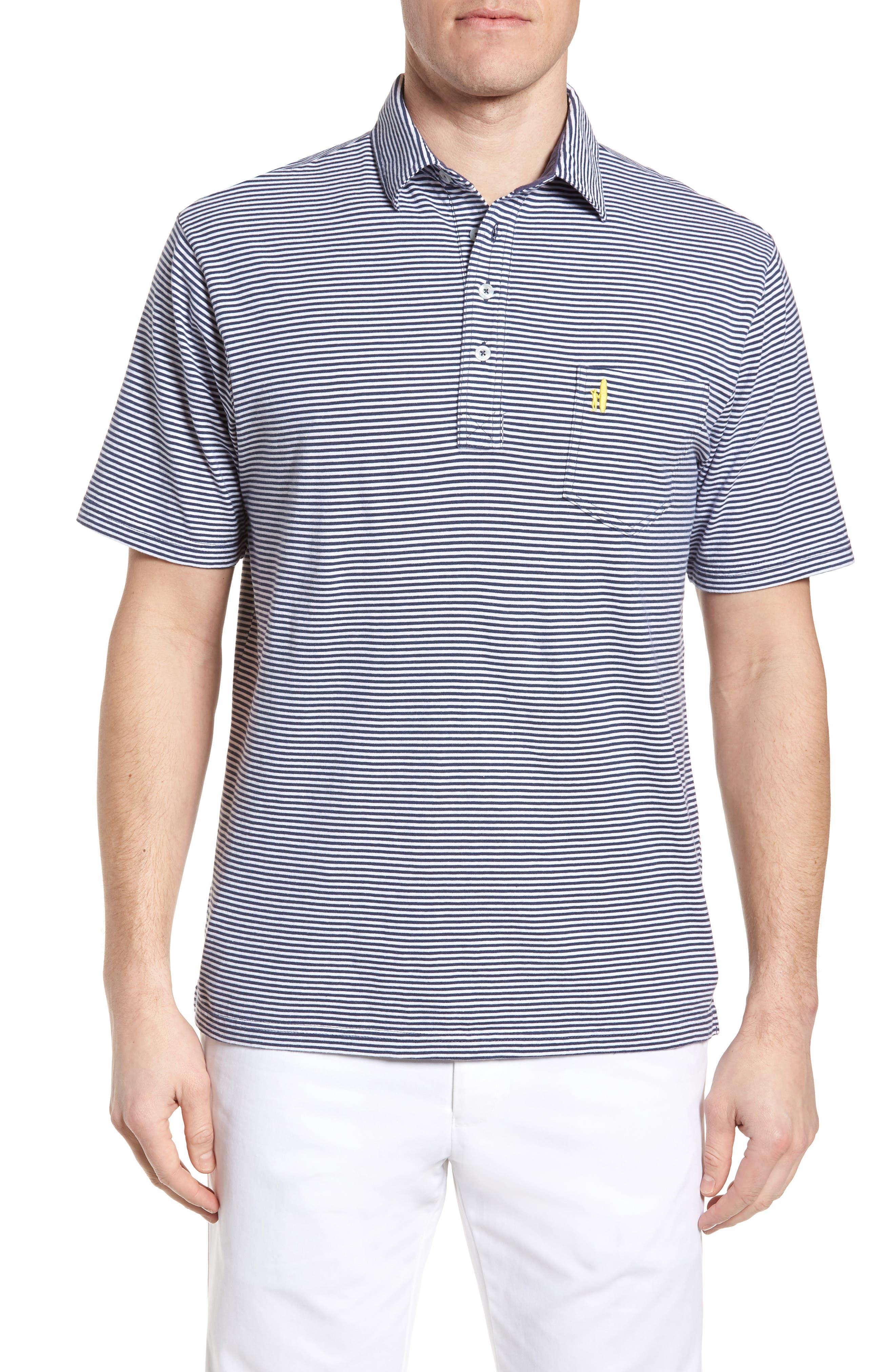 Jack Stripe Jersey Polo,                         Main,                         color, PACIFIC