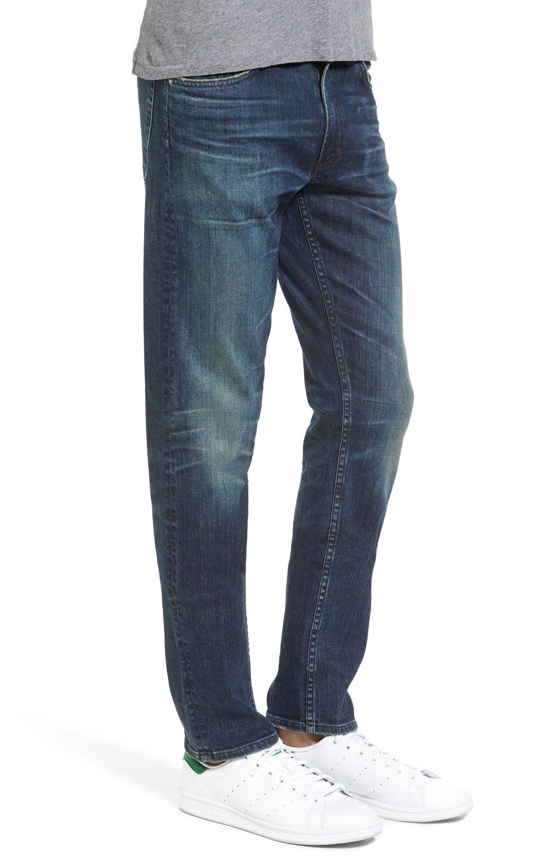 Bowery Slim Fit Jeans,                             Alternate thumbnail 4, color,                             463