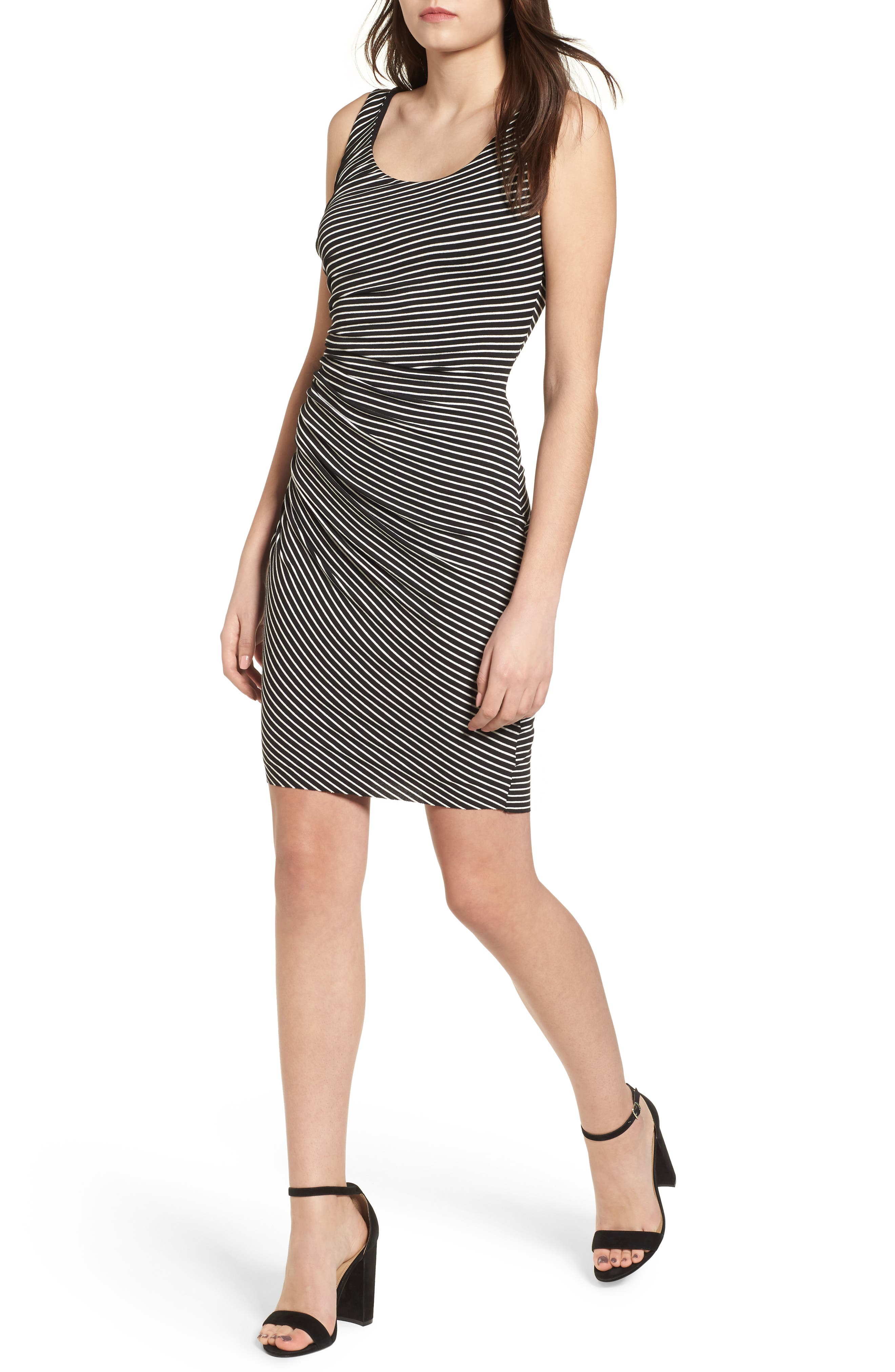 Dear One Stripe Tank Dress,                         Main,                         color, 001