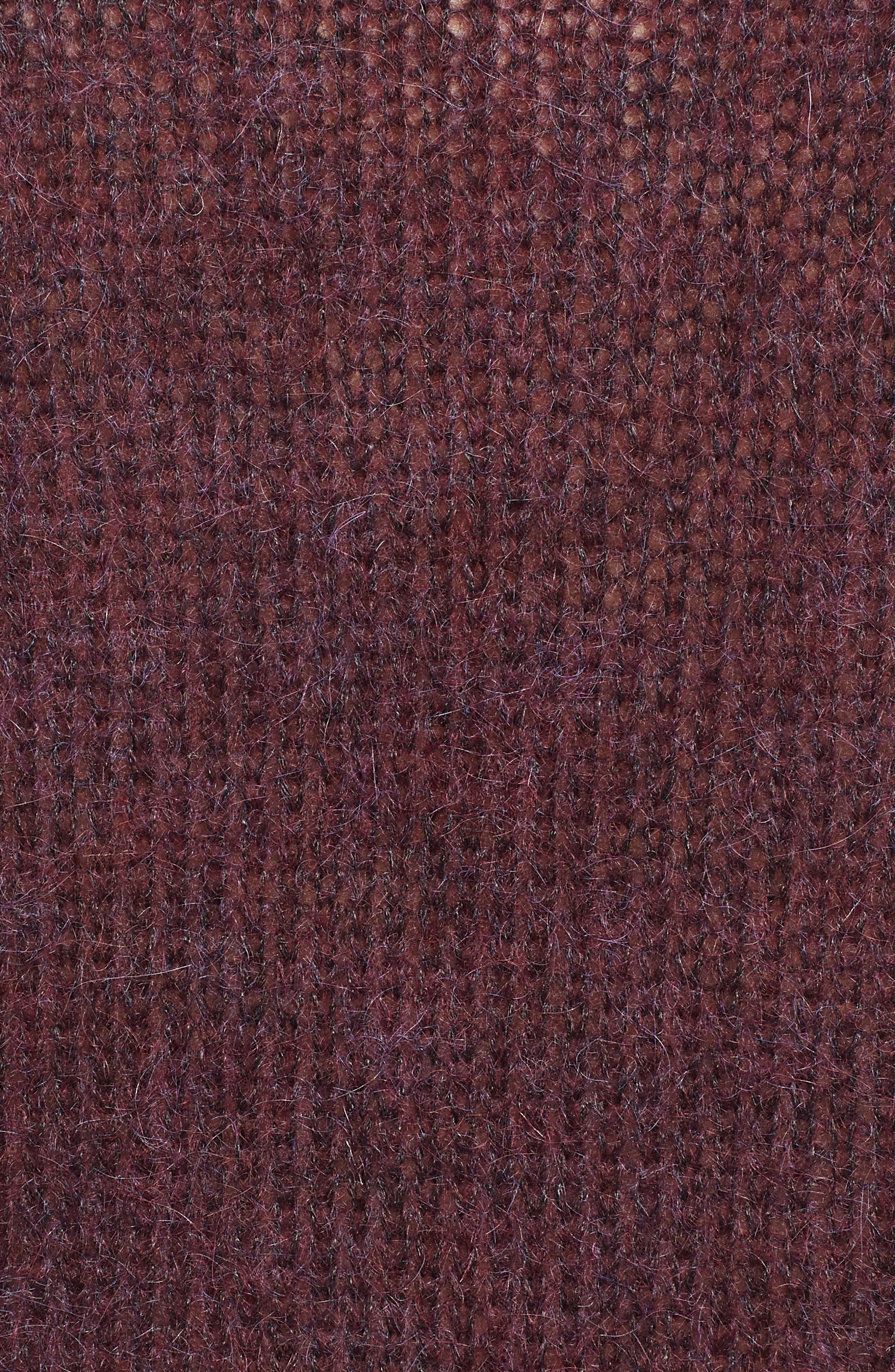 Ansley Crewneck Sweater,                             Alternate thumbnail 5, color,                             RICH CARMINE