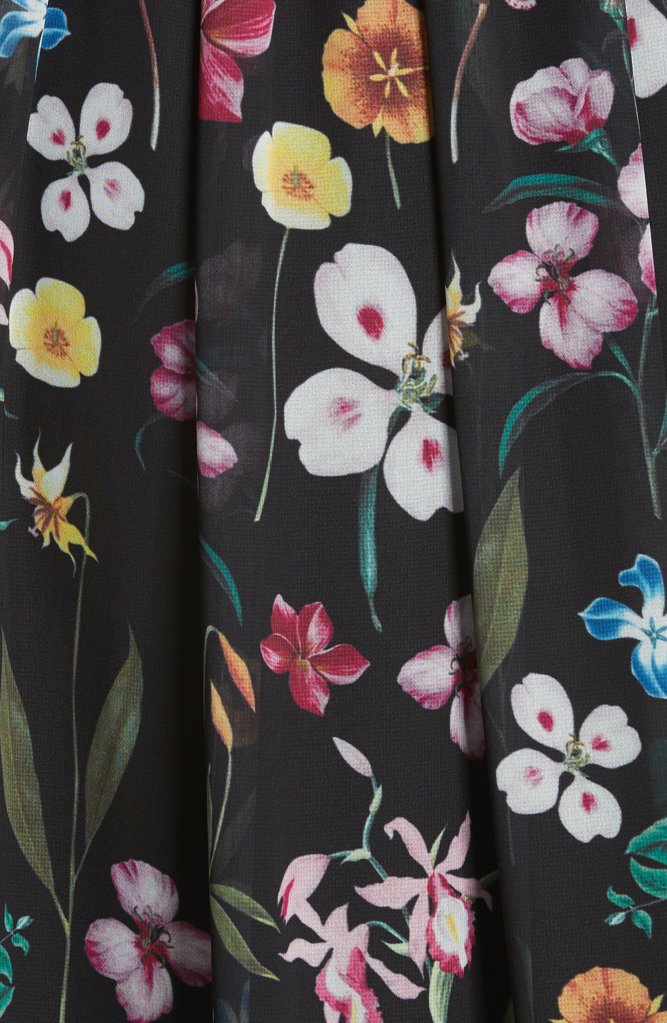 Hampton Maxi Dress,                             Alternate thumbnail 5, color,                             001