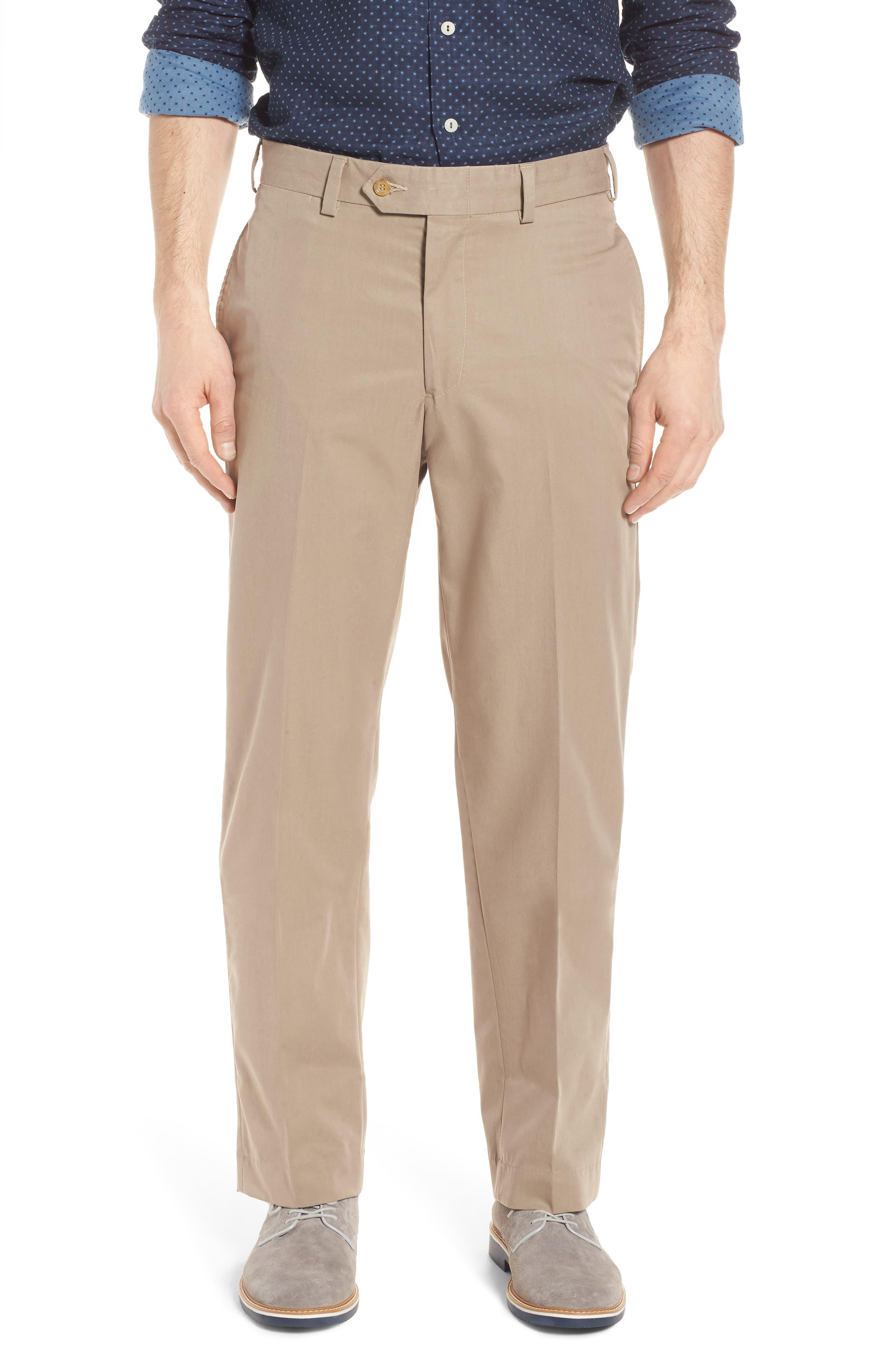 Classic Fit Travel Twill Pants,                         Main,                         color, KHAKI