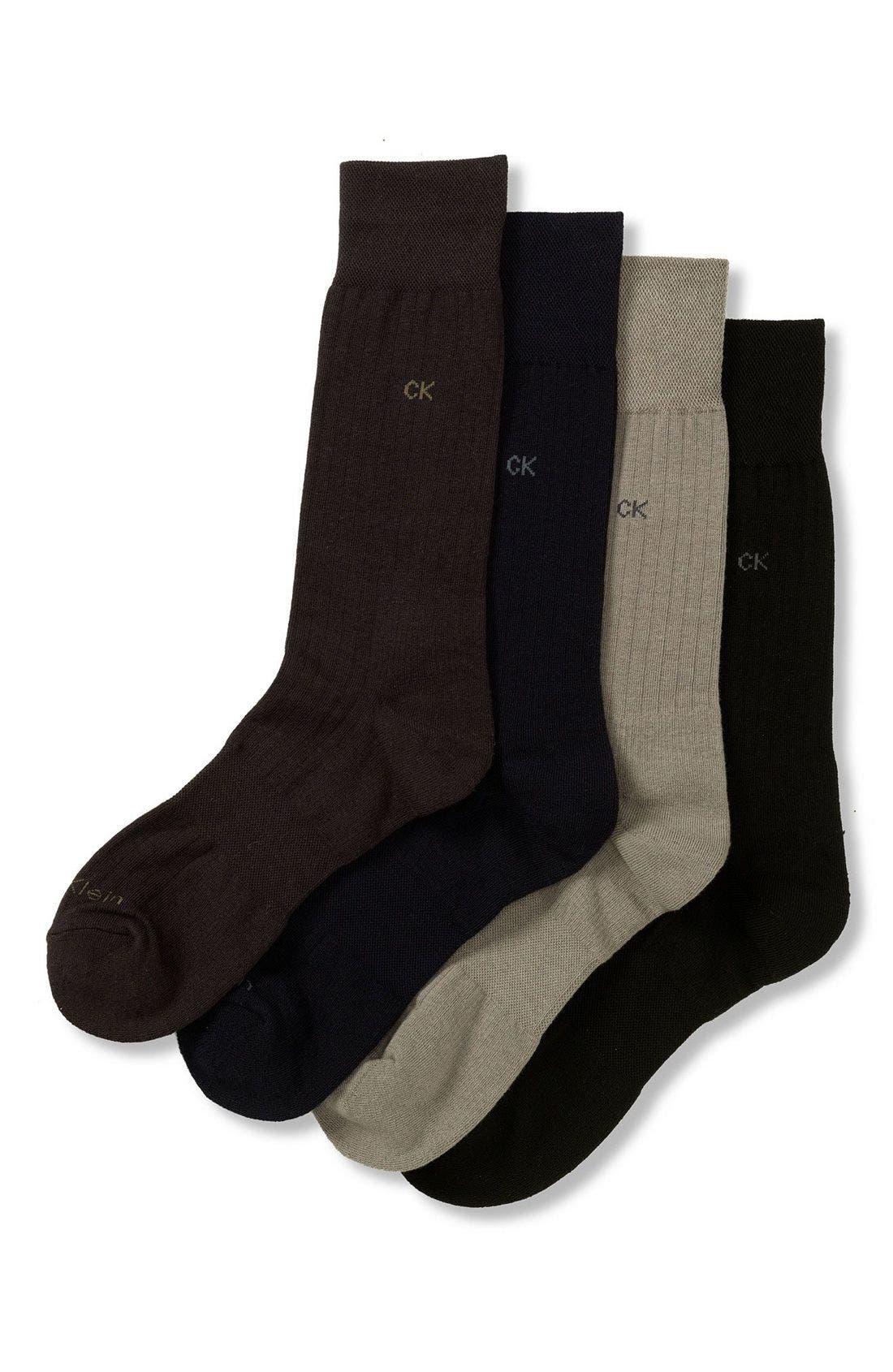 'Ultra Fit' Socks,                             Alternate thumbnail 3, color,                             001