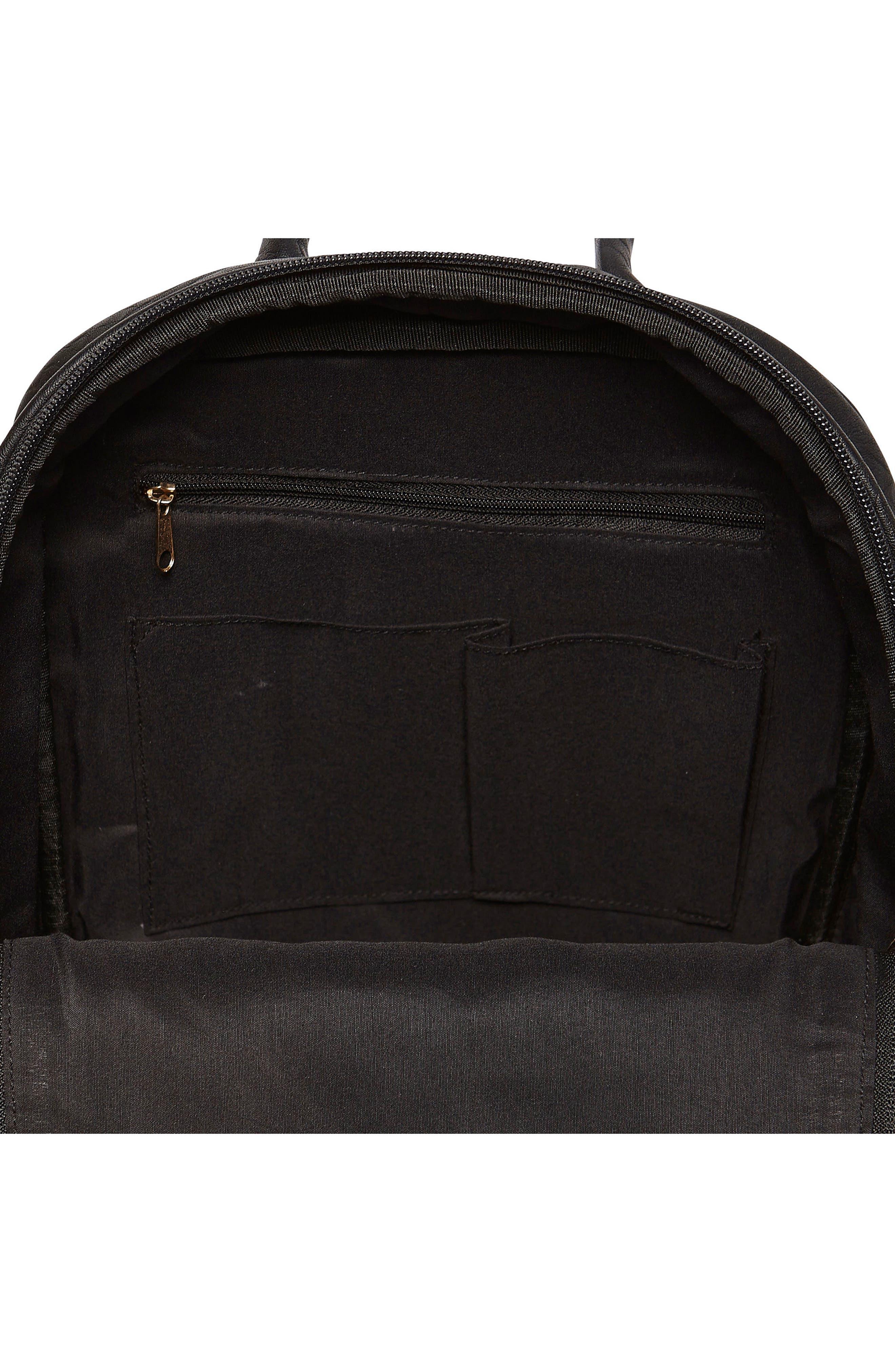 My Way Vegan Leather Backpack,                             Alternate thumbnail 3, color,                             BLACK